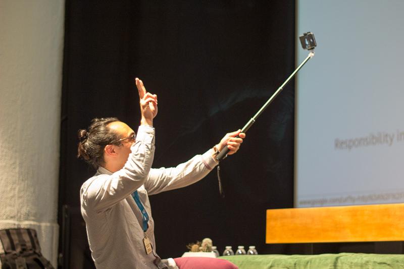 Jono Brandel taking a selfie.