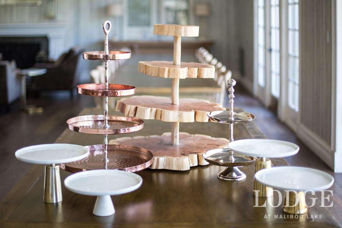 Assorted Cake Stands and Tiered Servers
