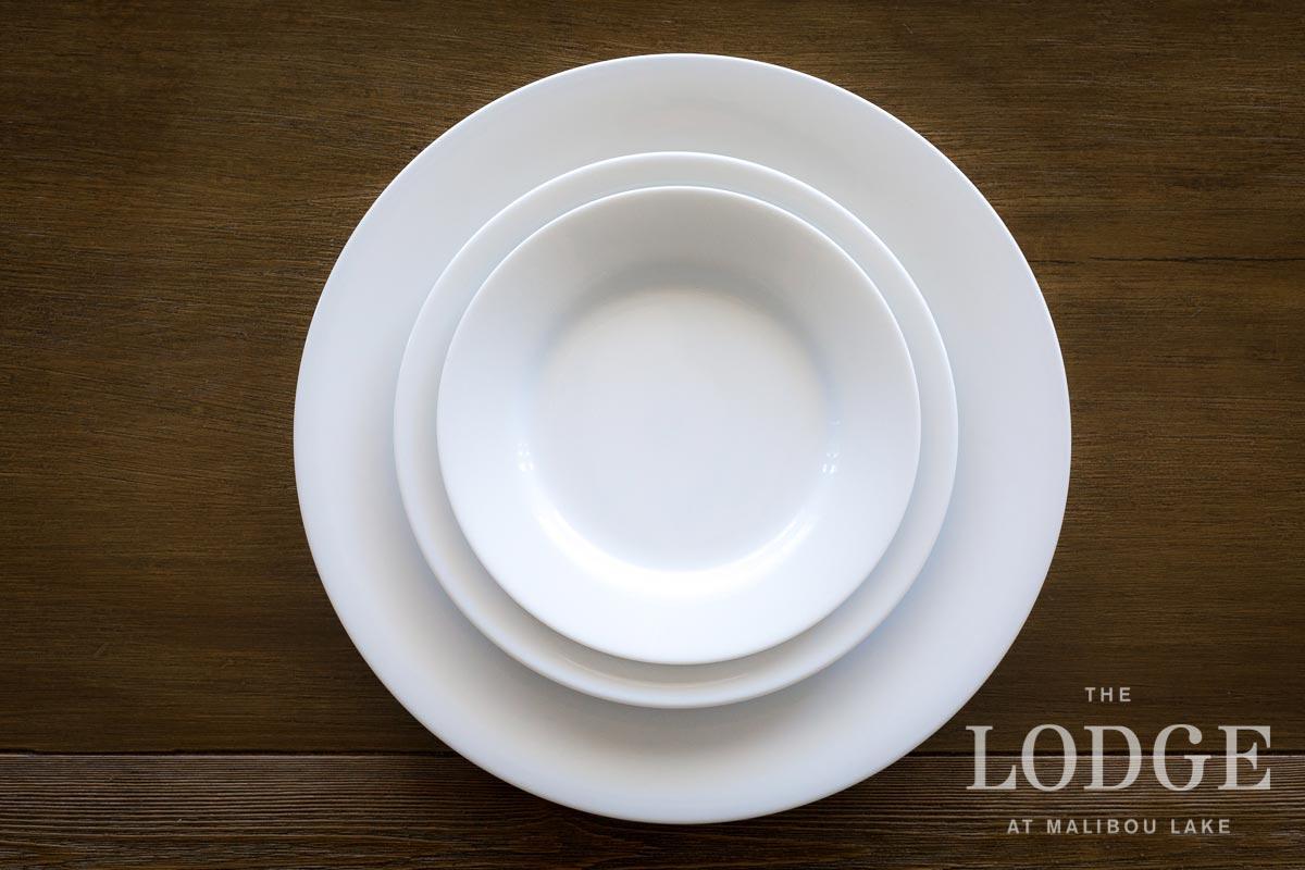 "11"" Dinner Plate, 8"" Salad Plate, 7"" Dessert Plate"
