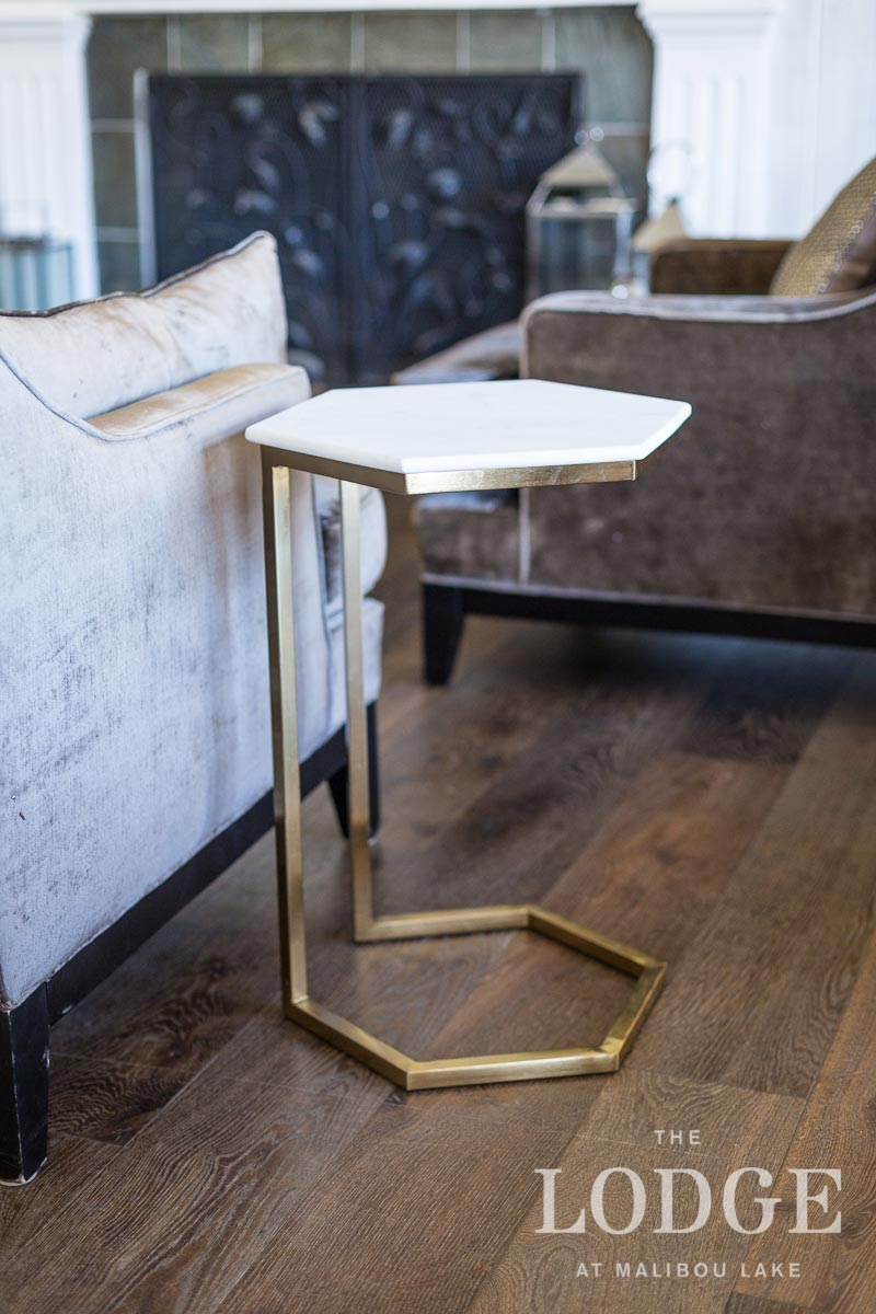 Brass and Marble Octagonal Table