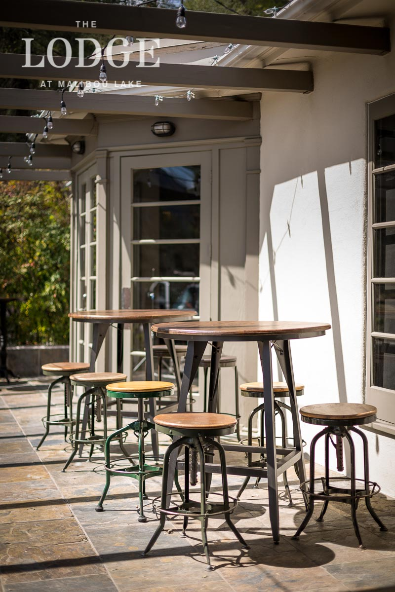 Pub Tables with Industrial Stools