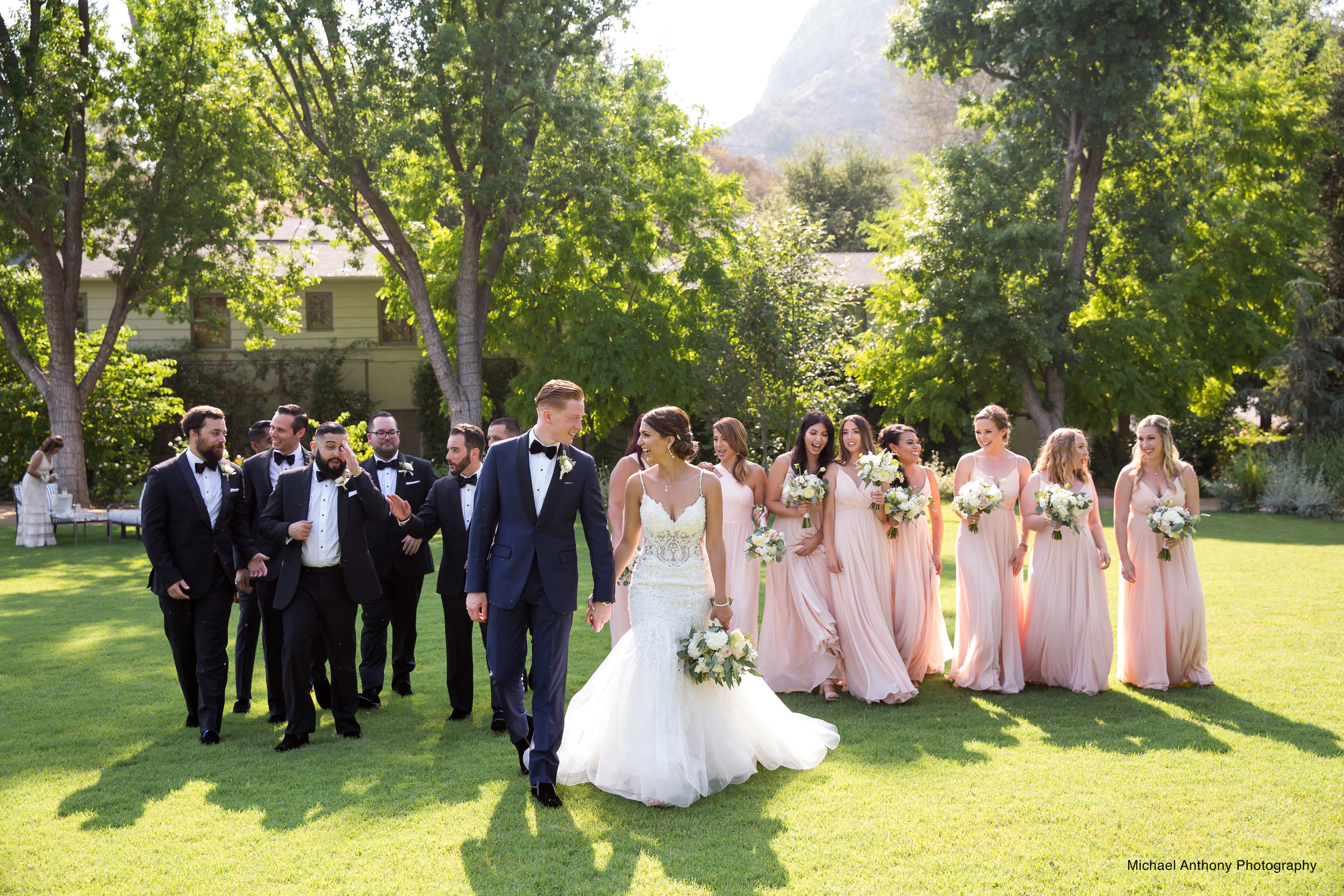 Banta wedding party on lawn Michael Anthony Photography.jpg