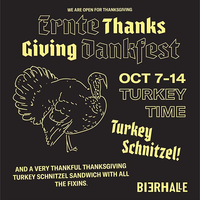 Just a little FYI that our bffs at Otto's Bierhalle are doing a special for thanksgiving! Hint: it might be turkey schnitzel🦃(it IS turkey schnitzel)🦃