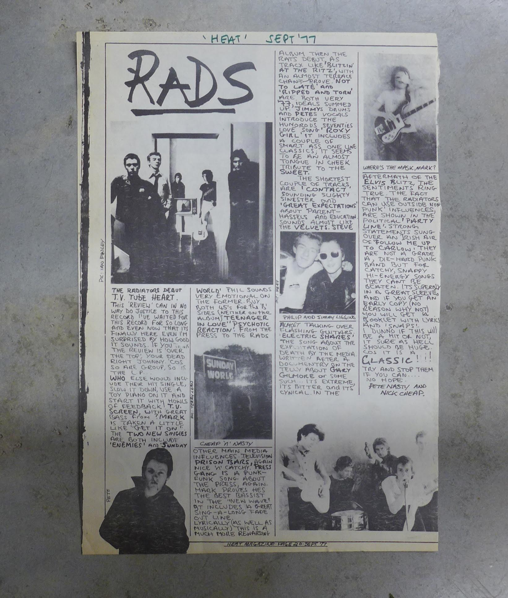 Review from the punk zine, 'Heat'.
