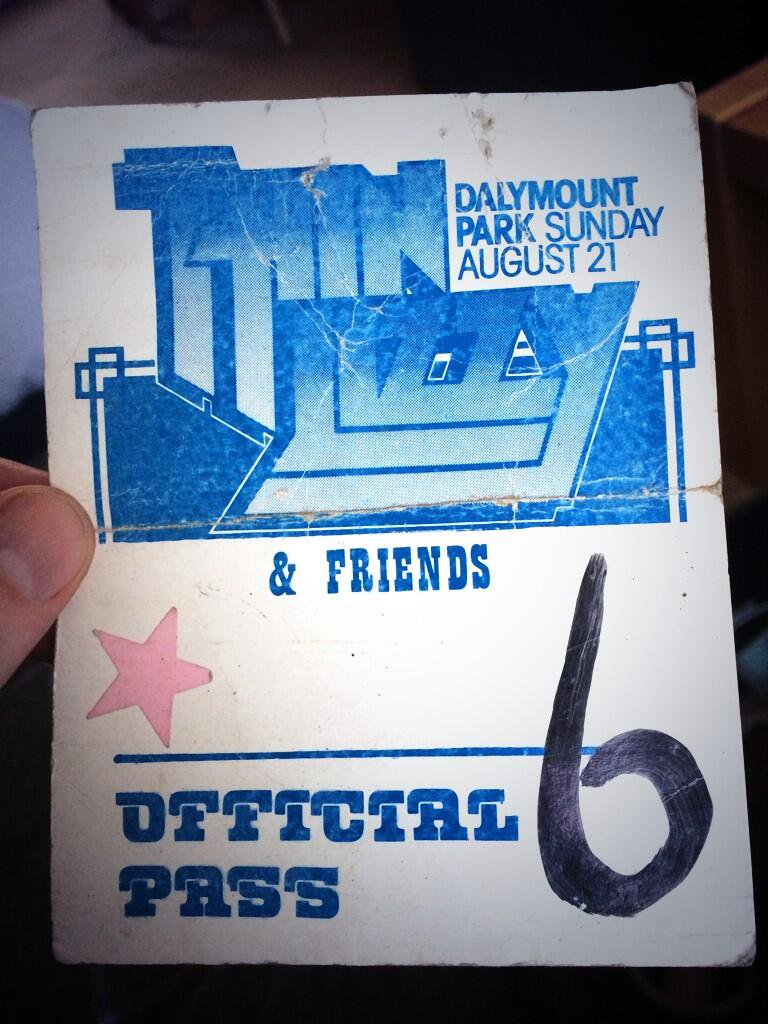 From when we, The Radiators From Space, supported Thin Lizzy in 1977.
