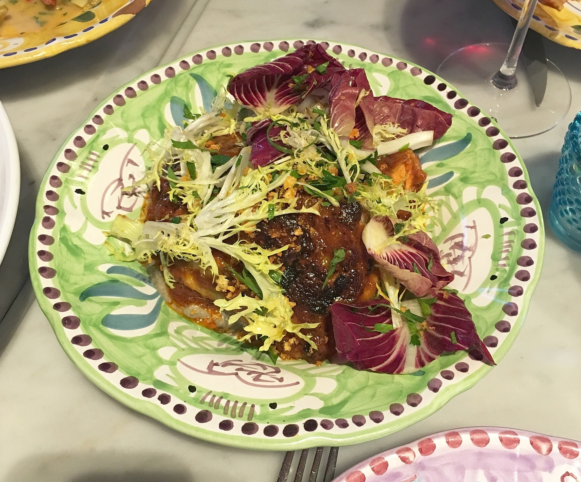 guajillo chicken, eggplant yogurt