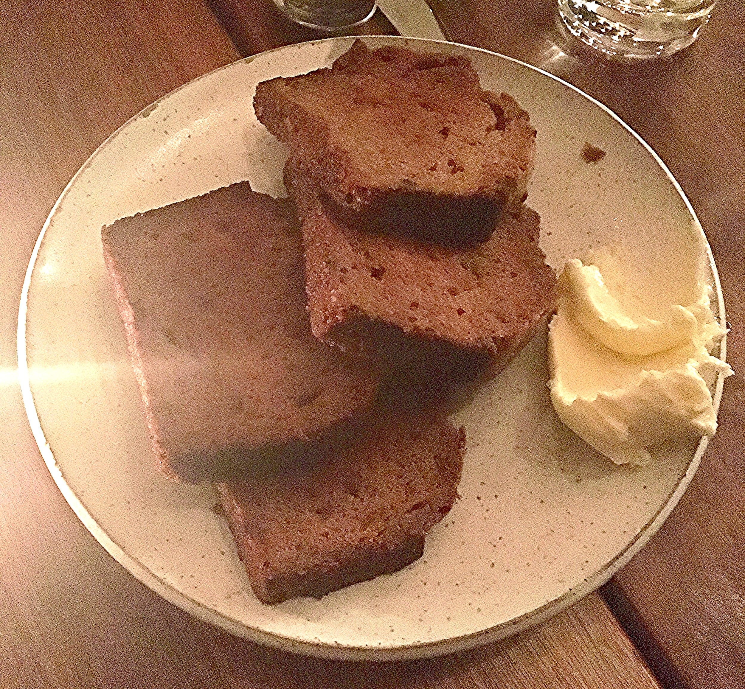 pumpkin bread with cultured butter