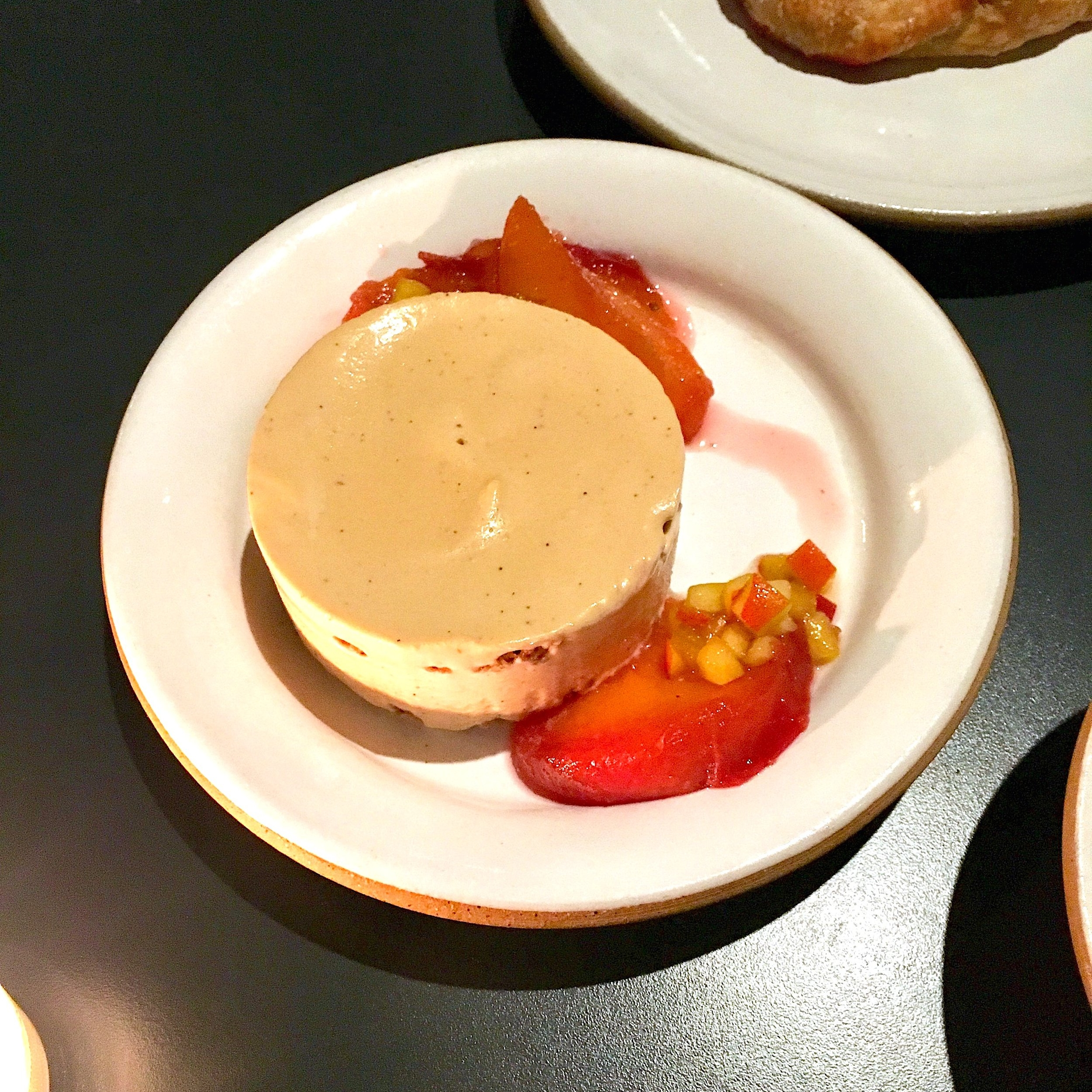 brown butter semifreddo, pecan streusel, roasted peaches