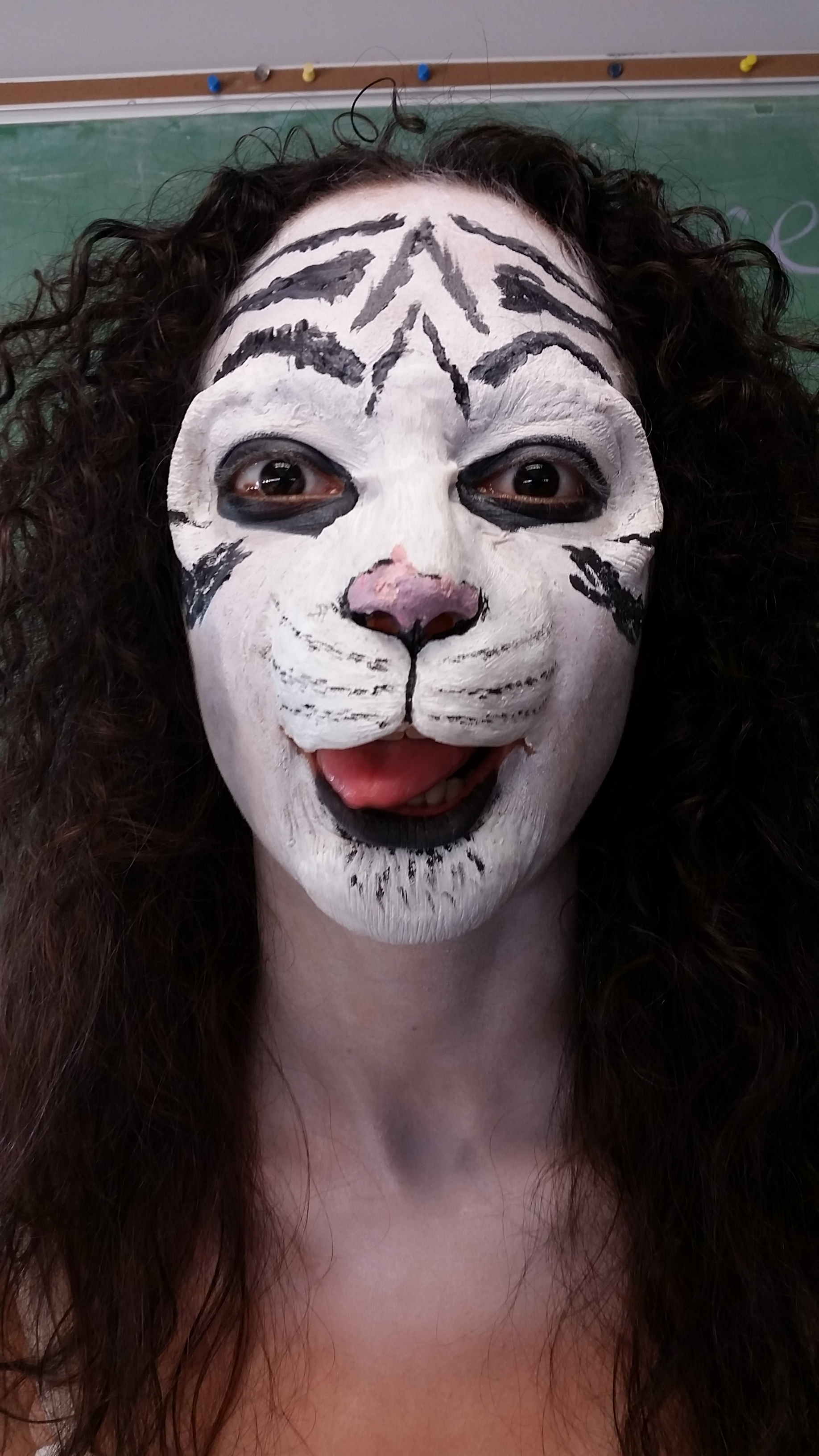 Four part custom cast latex prosthetic tiger makeup inspired by doctor seuss. Model: Maydi Diaz