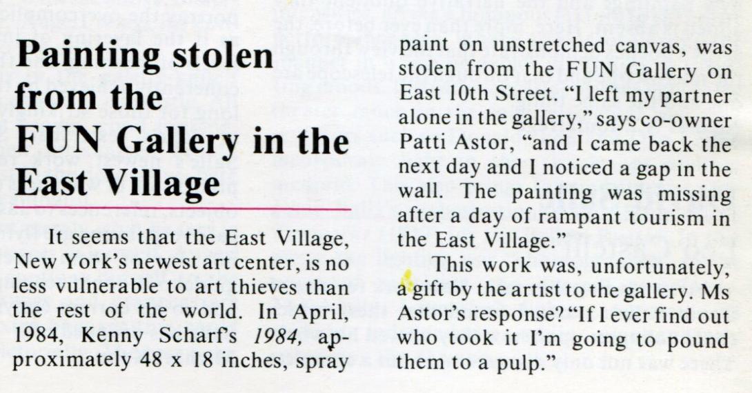 FUN Gallery Scandal