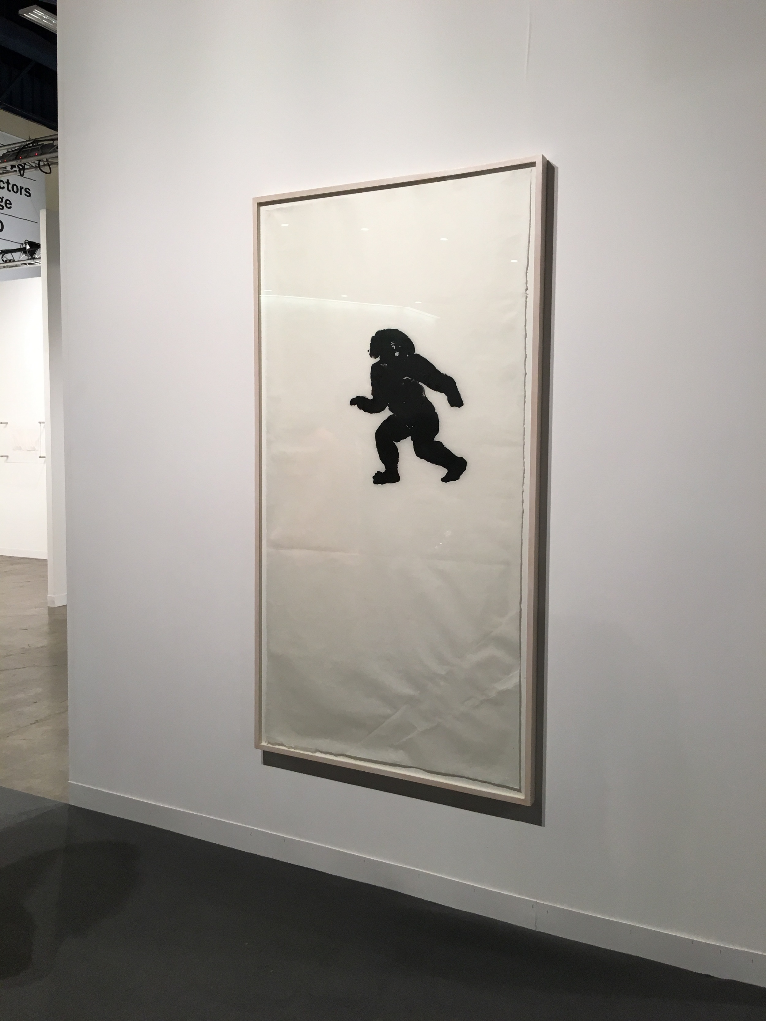 an early Christopher Wool enamel on rice paper