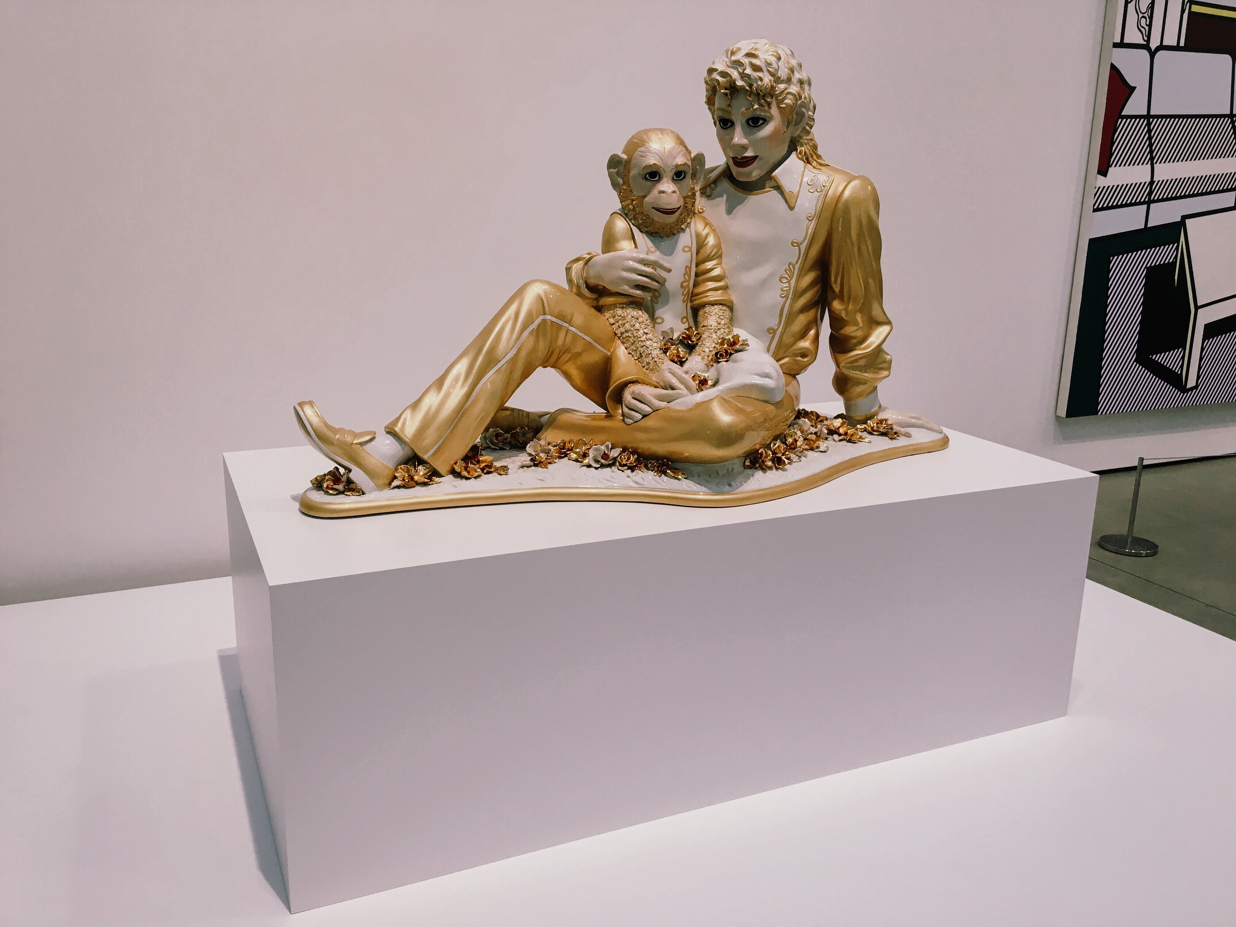 Michael Jackson and Bubbles by Jeff Koons bringing back memories of when SFMOMA first opened