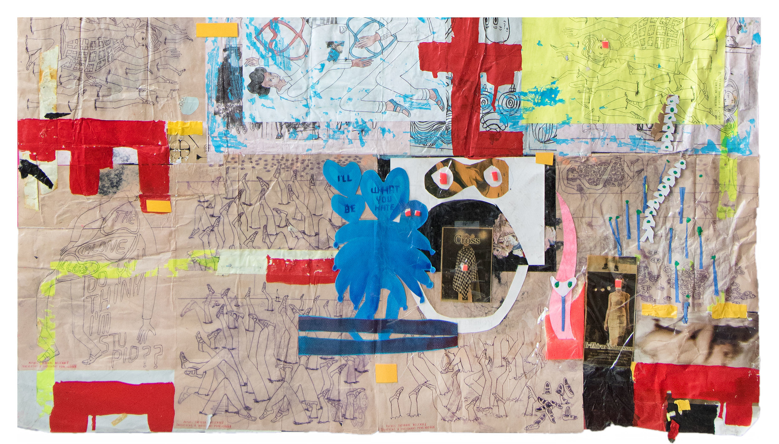(Detail of SAY SAY SAY, 2010) Mix Media Collage including discarded drawings, acrylic pain and ink jet copies