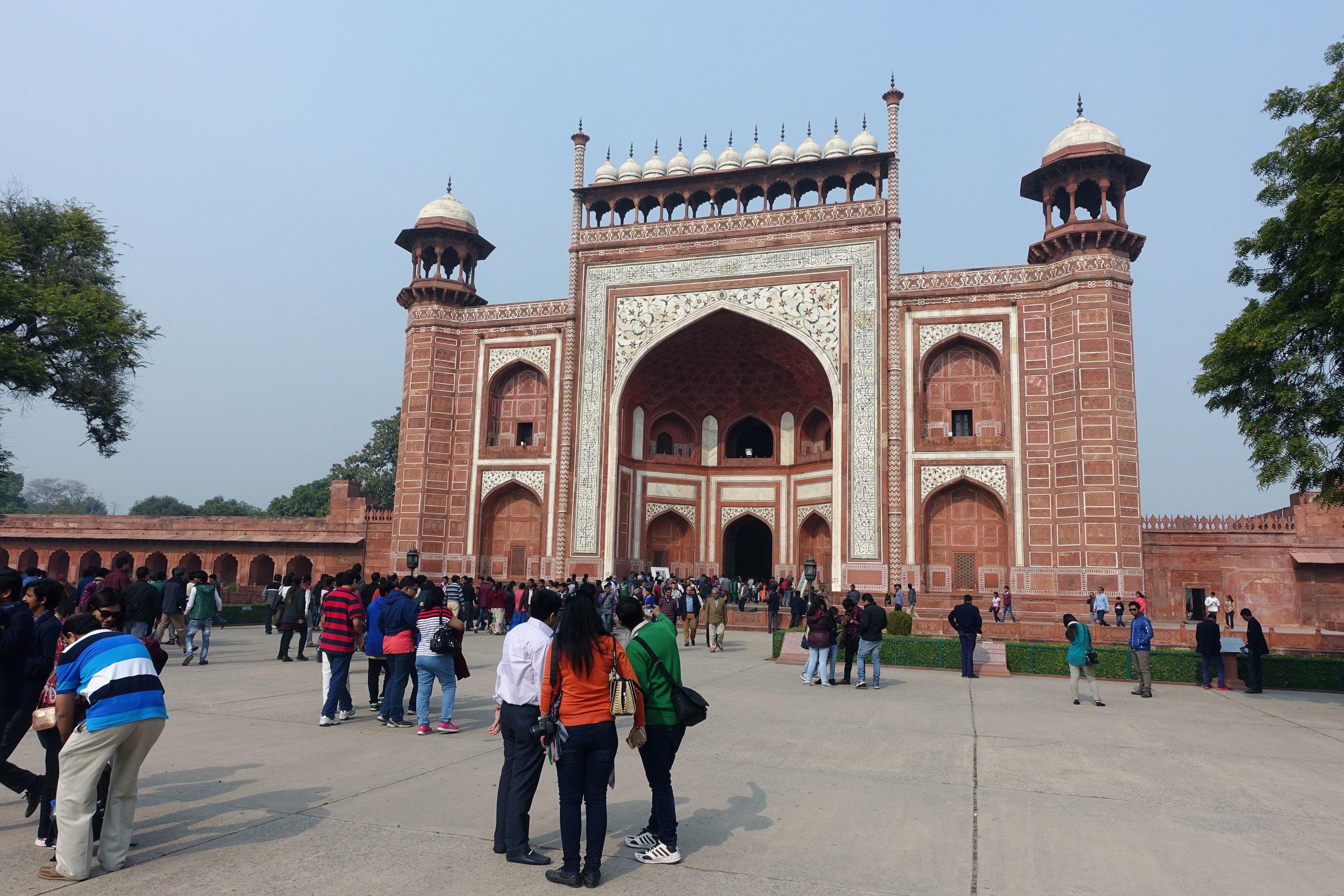 the second entrance to the Taj Mahal