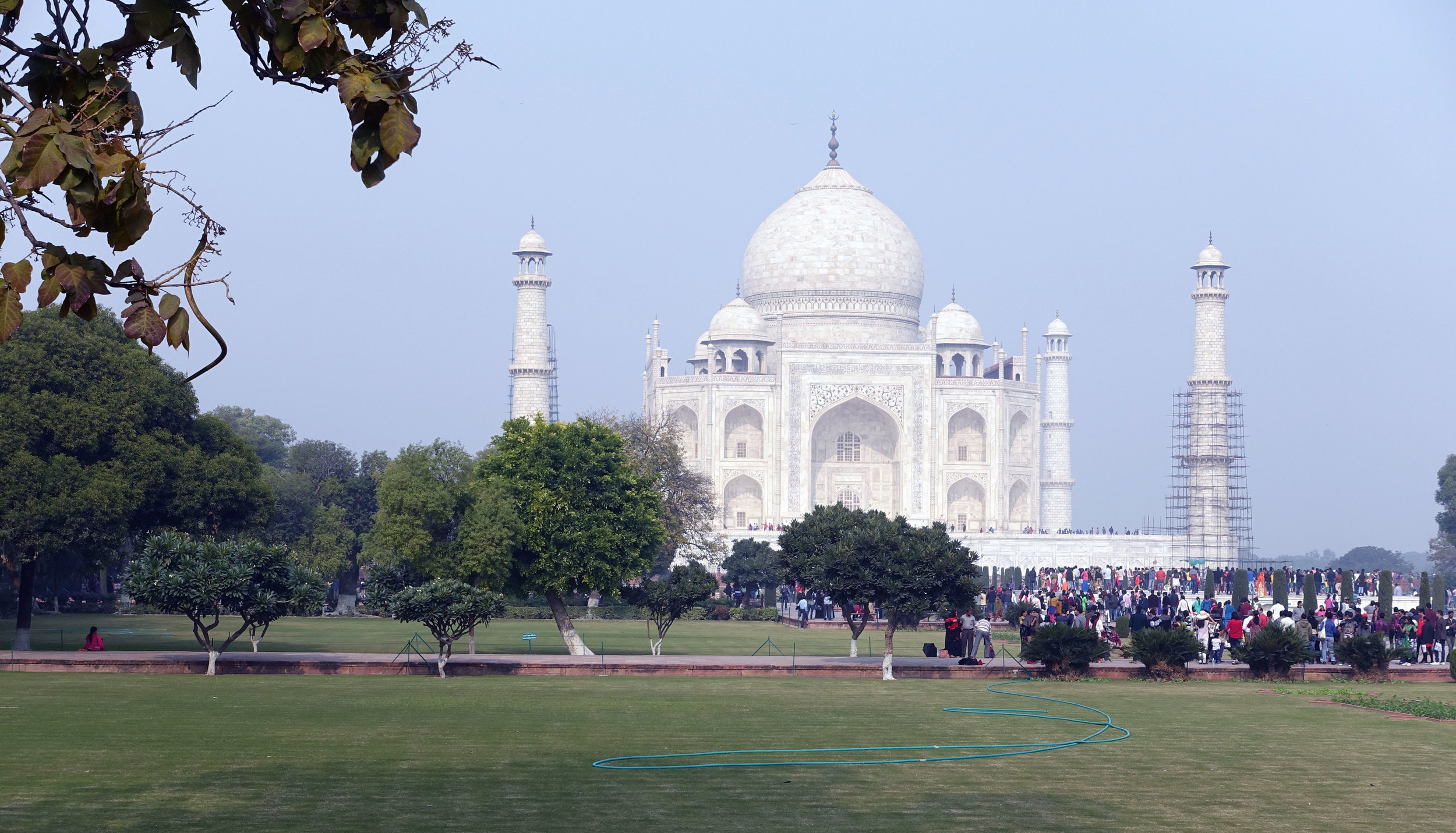 Apparently 15,000 people visit the Taj Mahal a day, more during the high season: November through January
