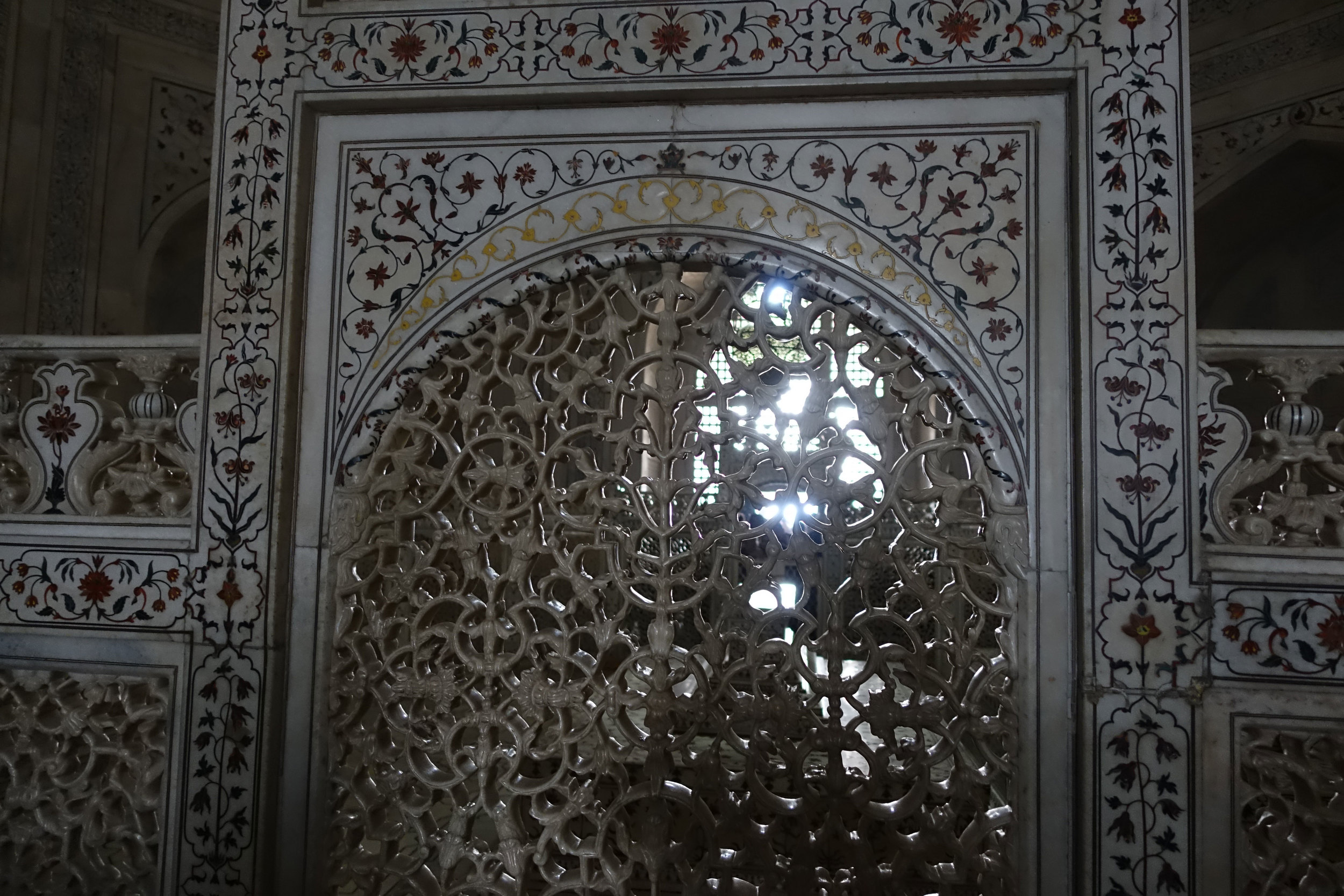 The Crescent moon a muslim symbol is situated on top of this panel