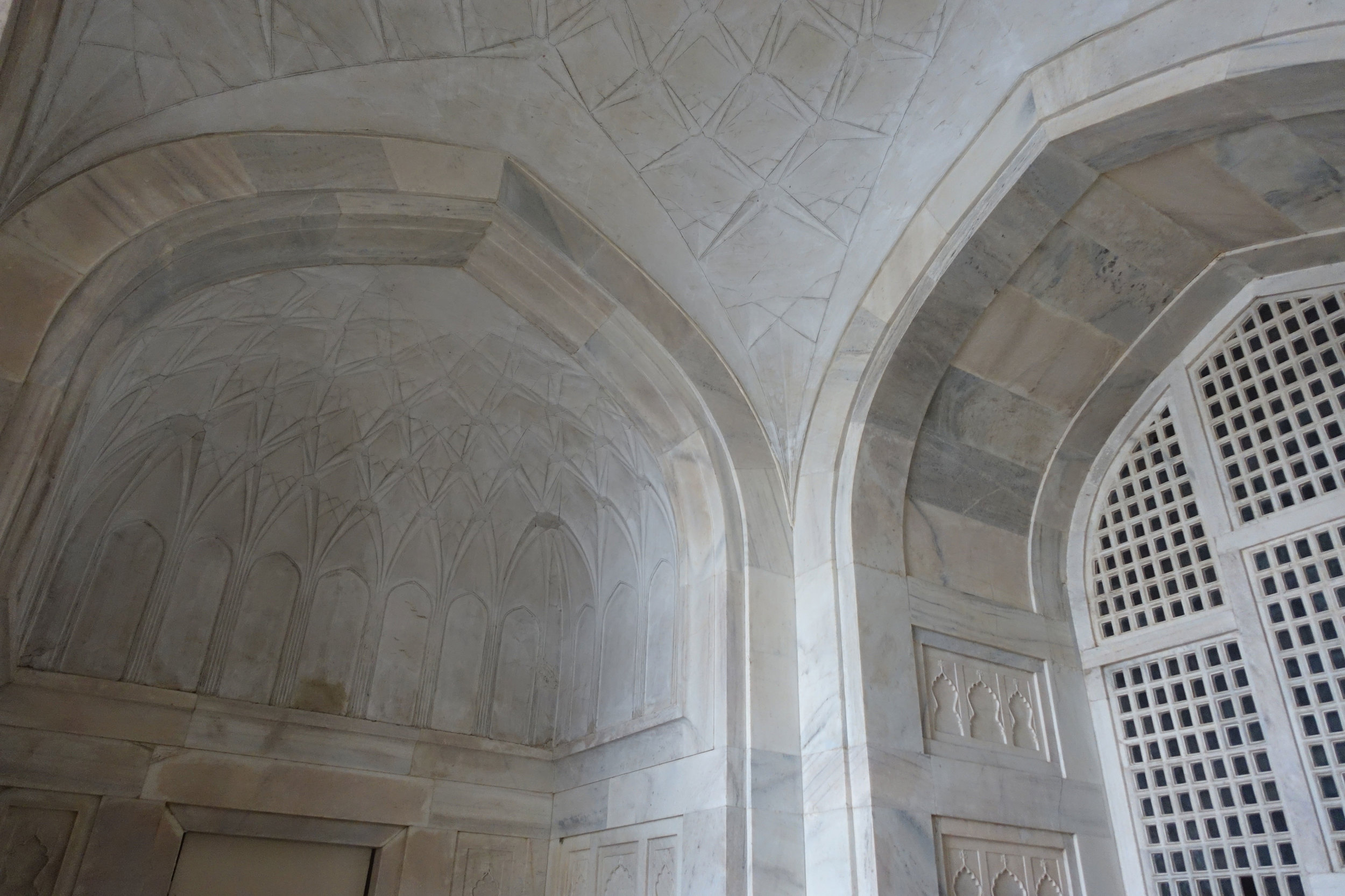 detail of the archways inside