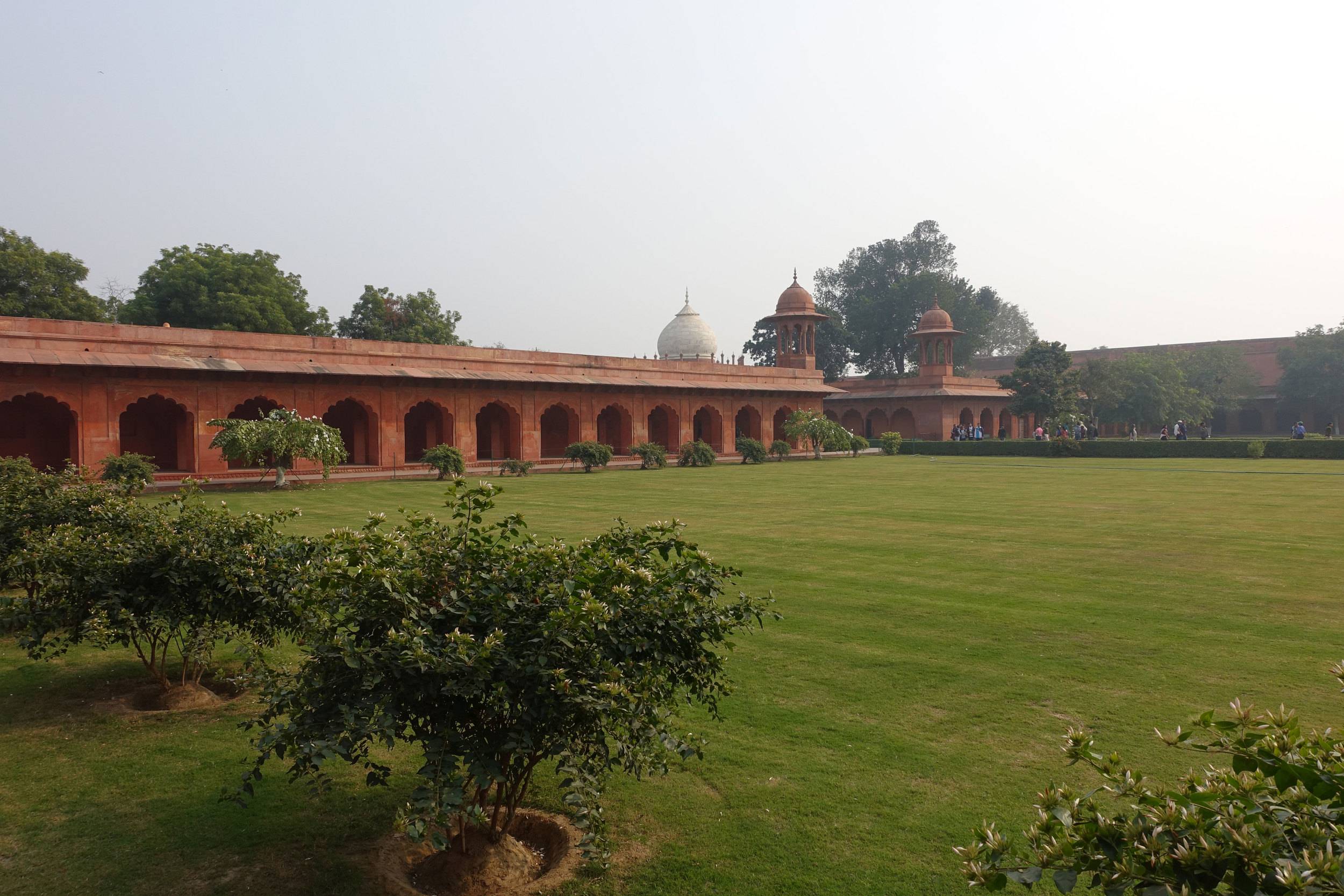a view from a distance of the barracks