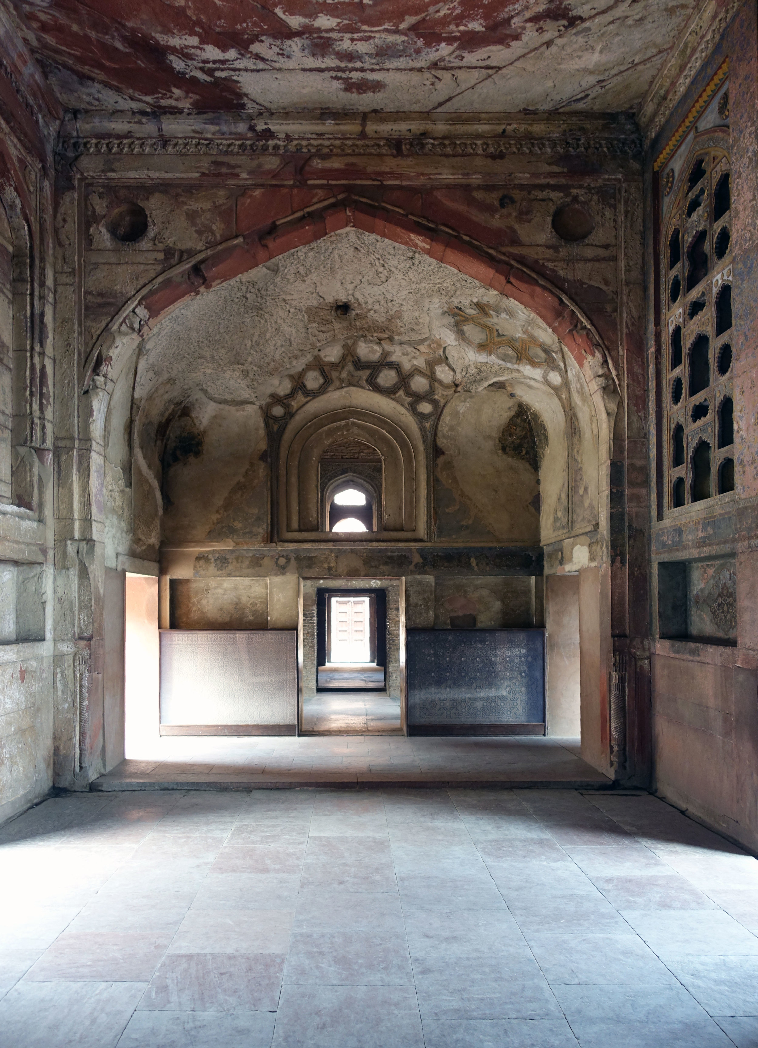 the Library in the Red Fort