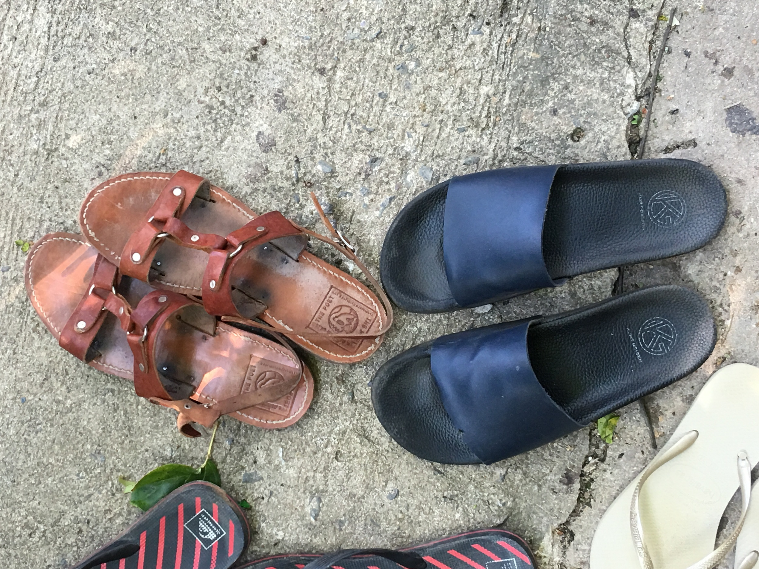 my greek sandals and Jodie's minimal chanclas