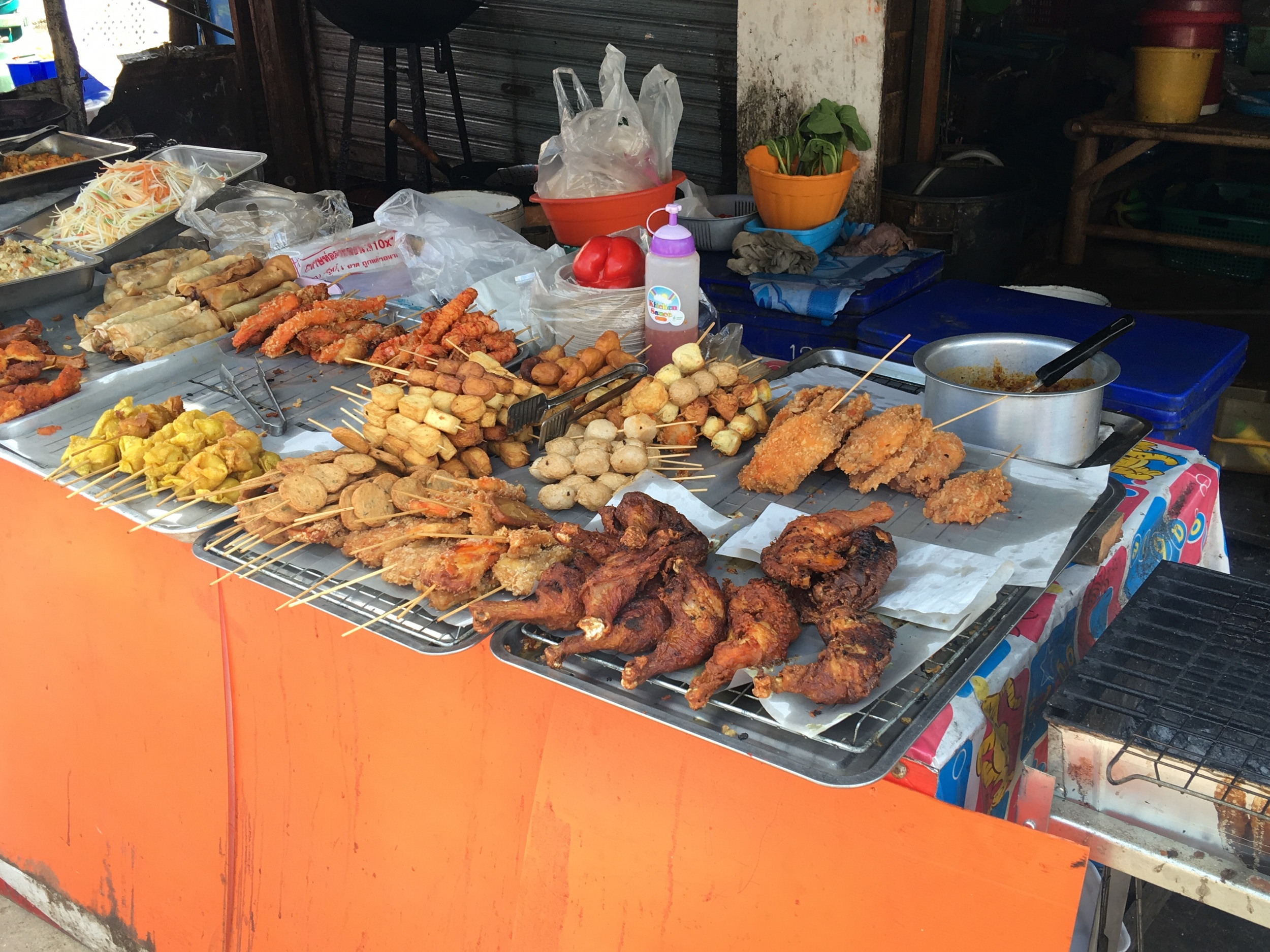 The Street Food Vendors in the city center of Saladan