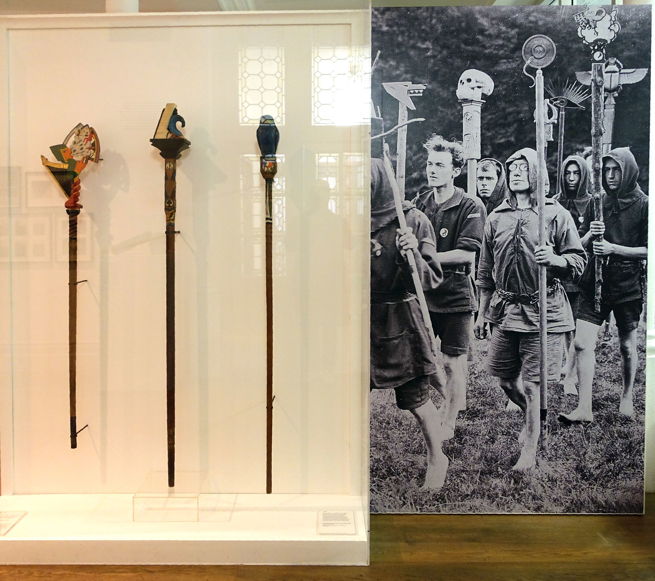 Documentation and the actual staff used in the Kibbo Kift pilgrimages