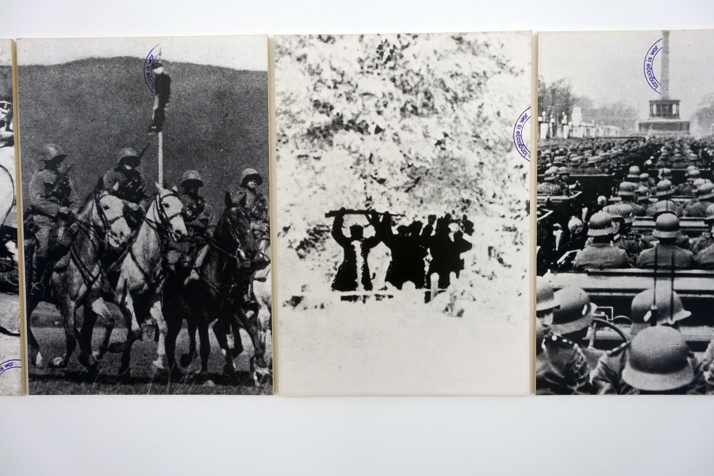 Language is War, 1975 (detail)