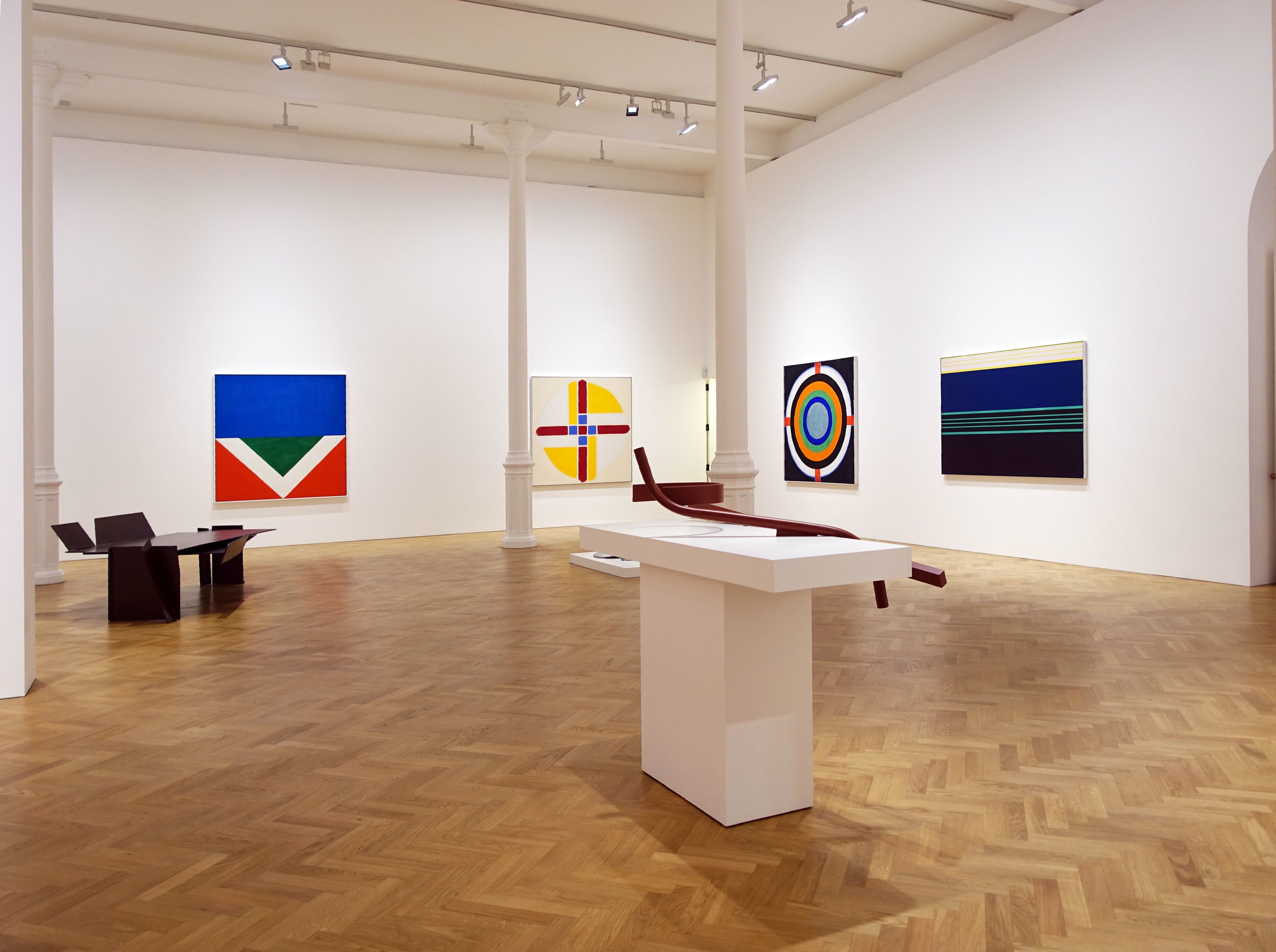 Noland, Hoyland and Caro at Pace London