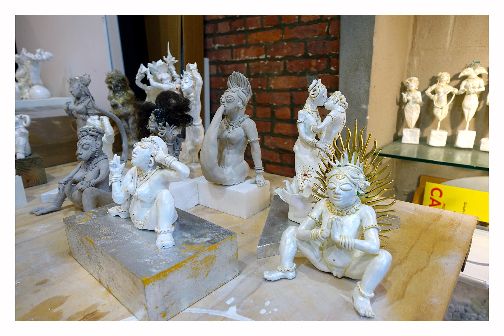Auto biographical squatting goddesses that transcend roles and original intent