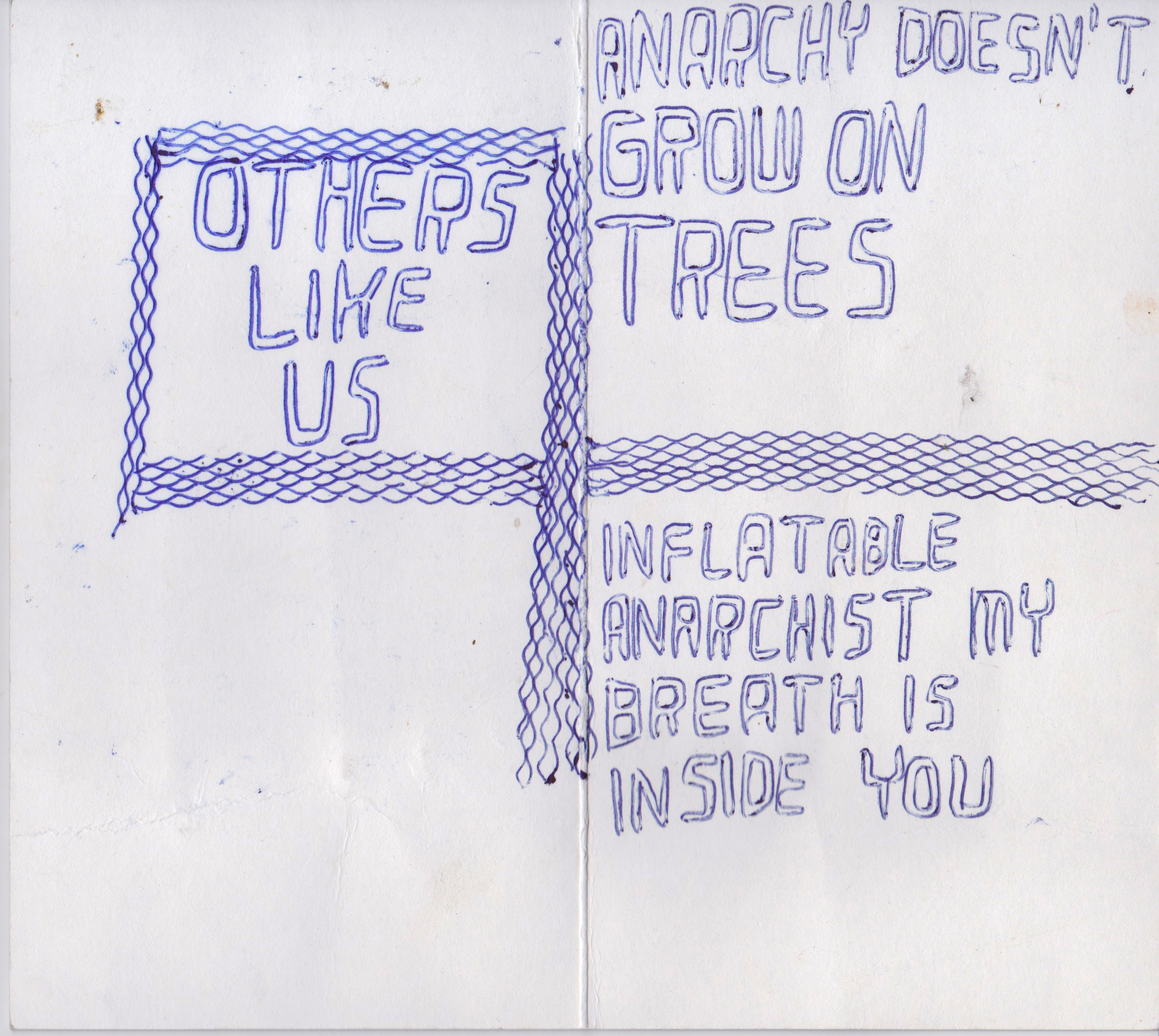 Others Like Us , n.d.  , (dated 2000 and 1997) ball point pen on paper, 7.25   x 5.25   inches