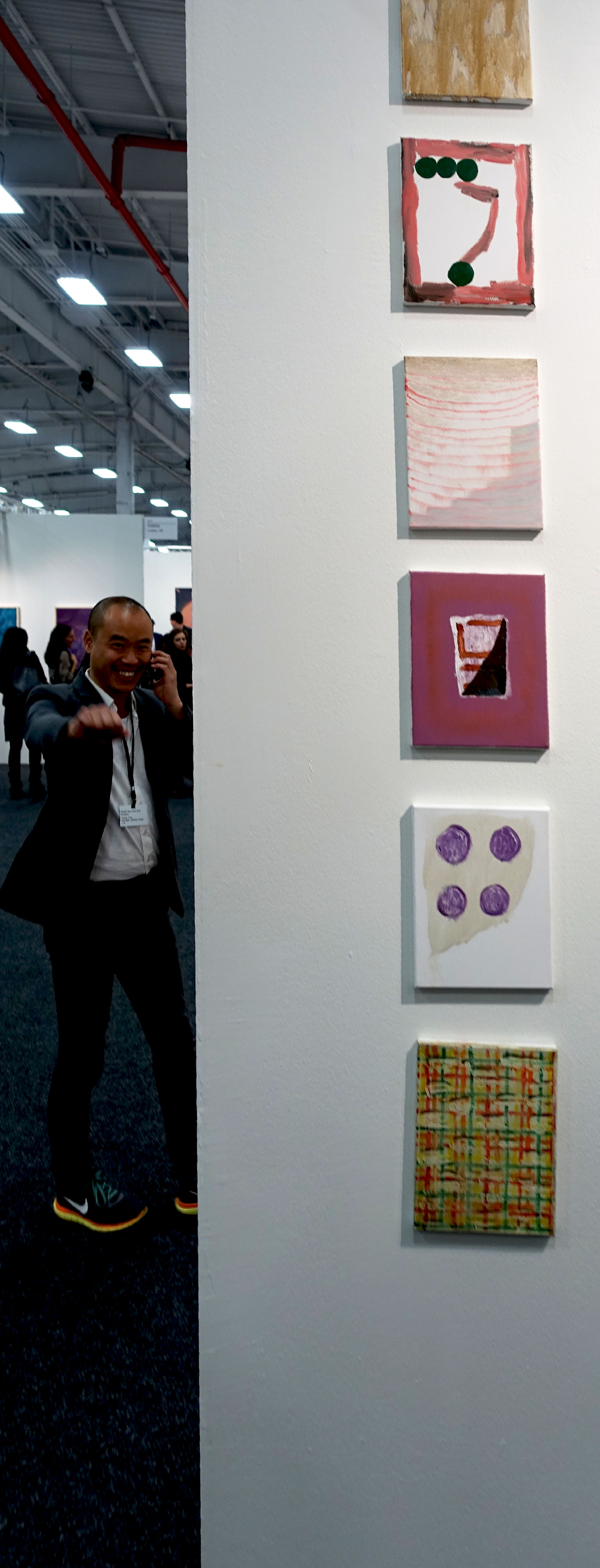 I was happy to see and visit with Joe Tang busy as usual in his booth manning the phone @   Galerie Joseph Tang