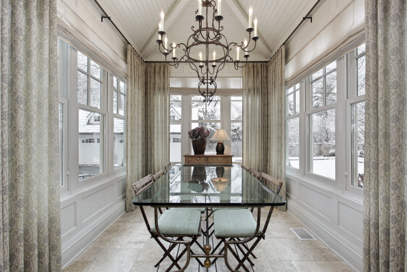 Chandelier Gracing This Dining Room