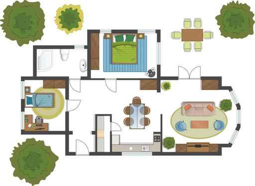 KHB INTERIORS New Orleans Interior Design Furniture Placement Sample