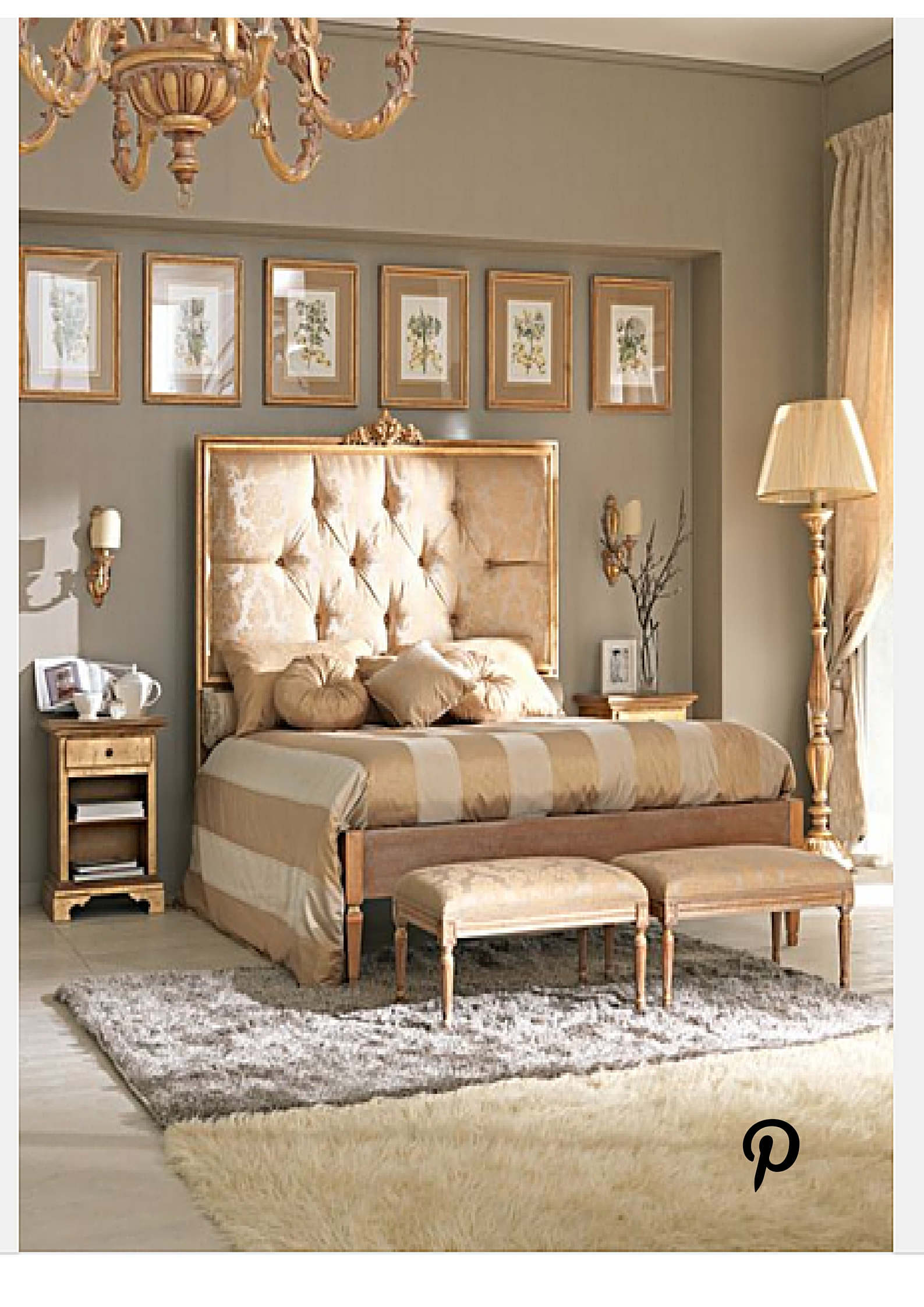 KHB Interiors New Orleans Interior Design Gold Bedroom From Pinterest