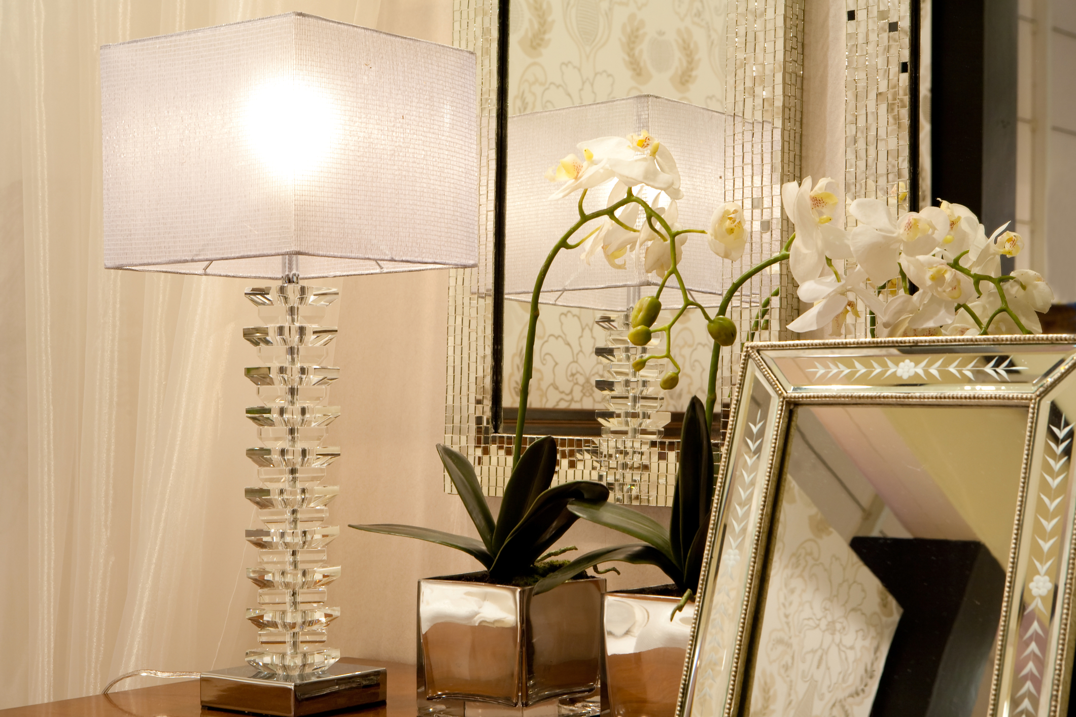 crystal table lamp metairie uptown local interior designers khb interiors