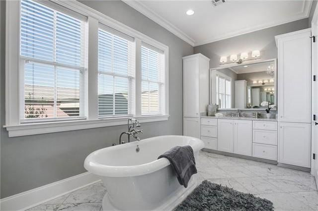 white gray master bathroom ideas new orleans interior designers khb interiors