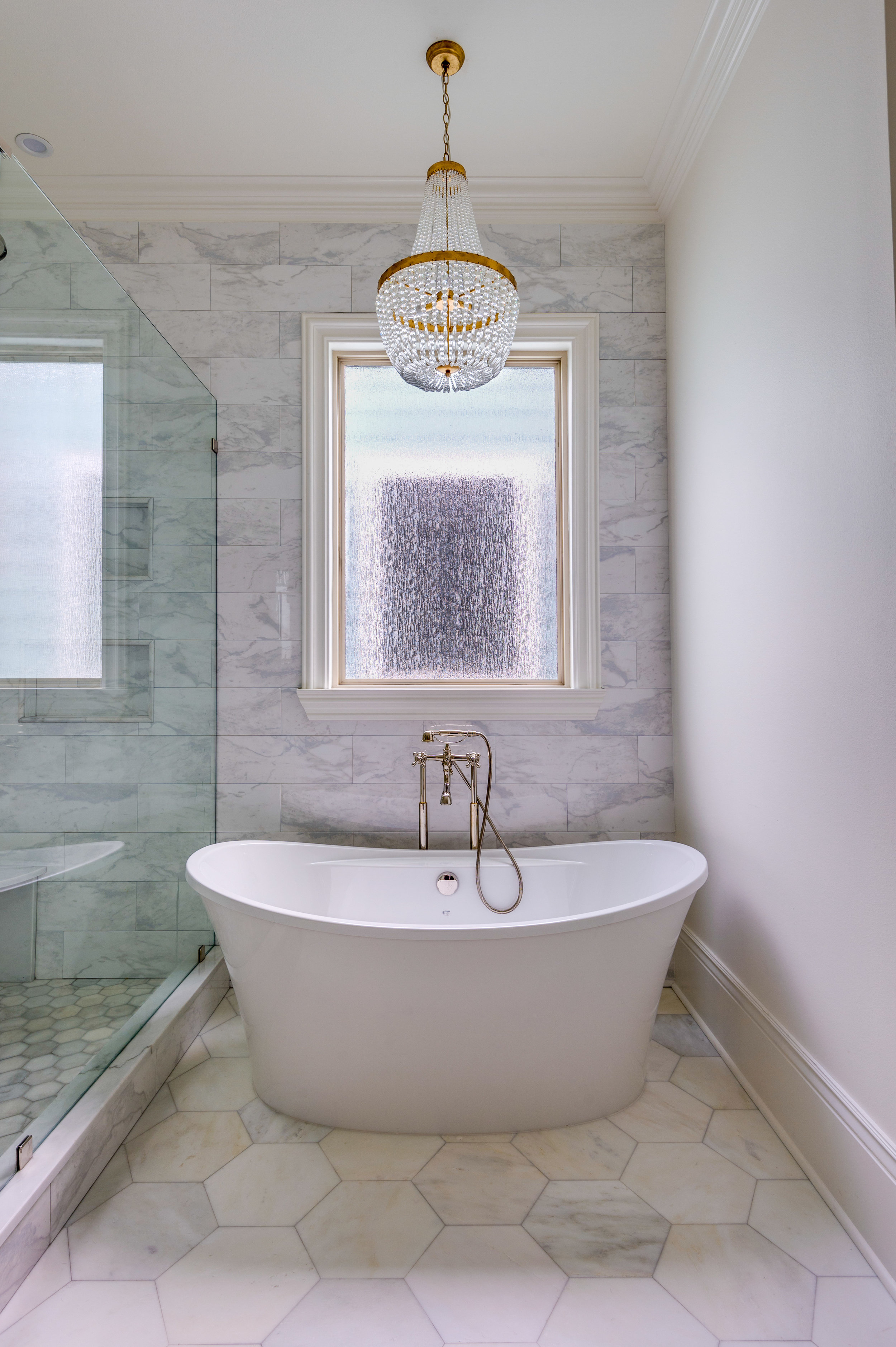 master bathroom tub chandelier interior design consultant metairie uptown khb interiors