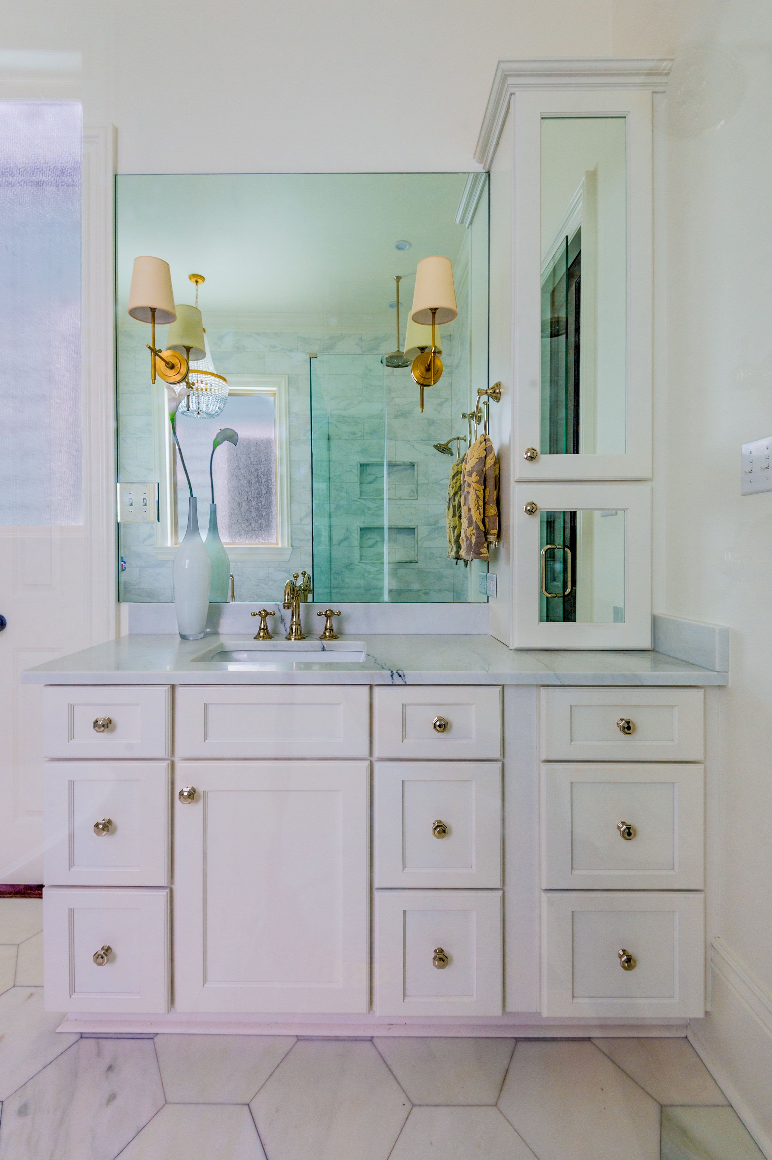 white bathroom vanity cabinets new orleans home interiors khb interiors