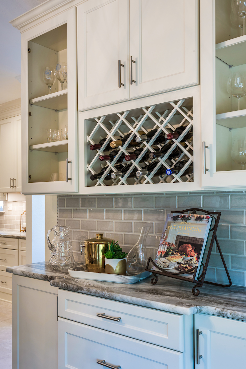 custom kitchen cabinets wine rack new orleans home interiors khb interiors