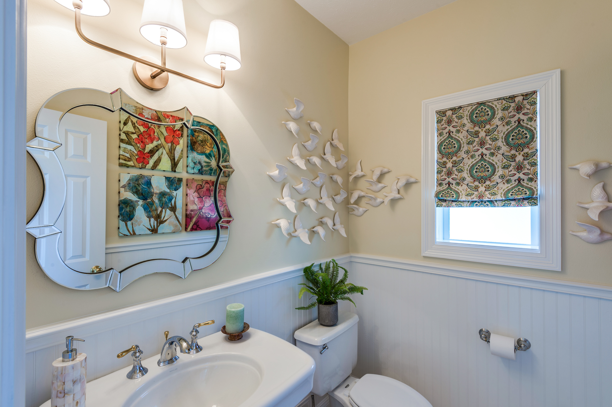 bathroom mirror frame new orleans design style khb interiors