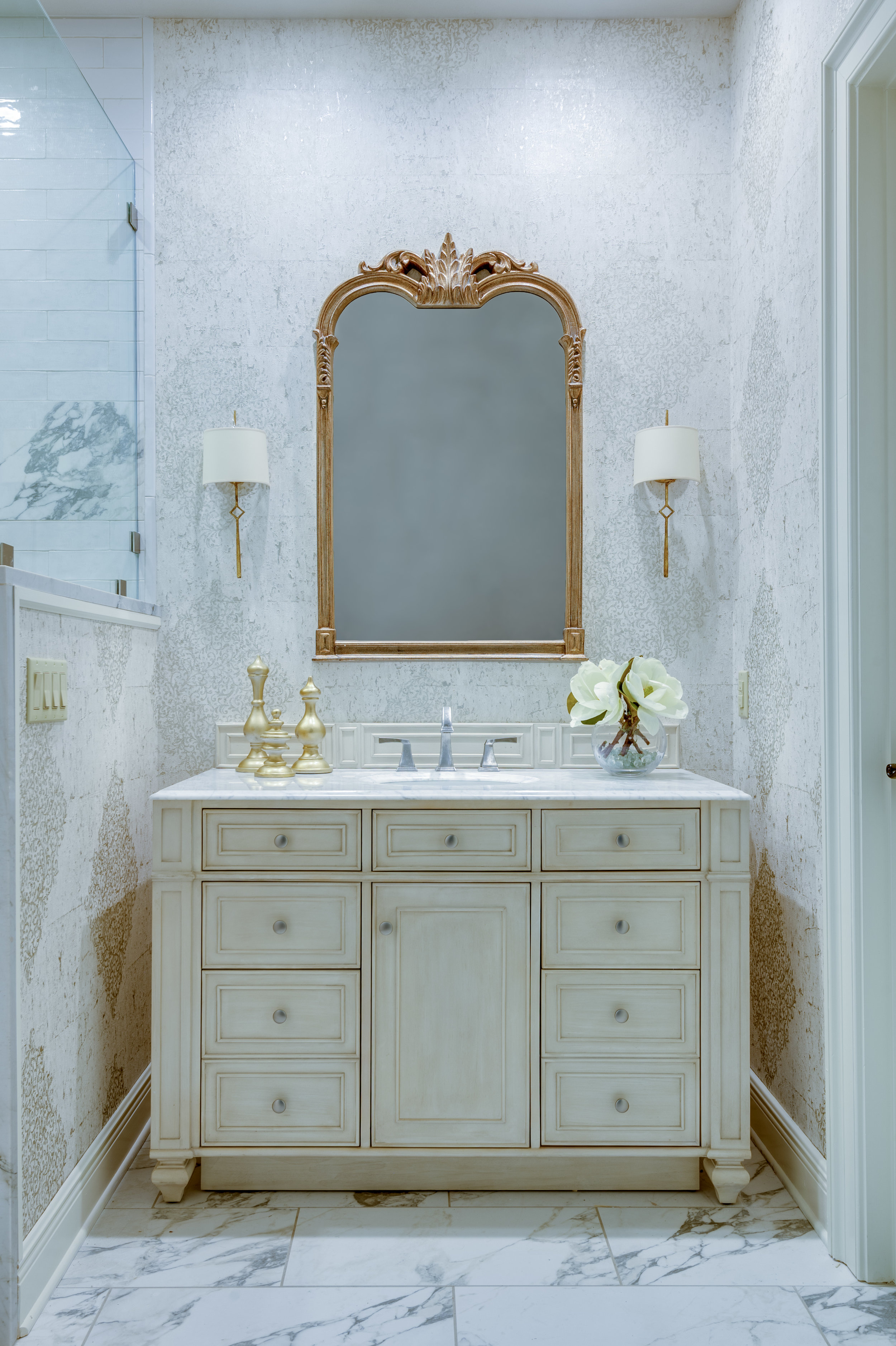 white master bathroom cabinets new orleans design style khb interiors