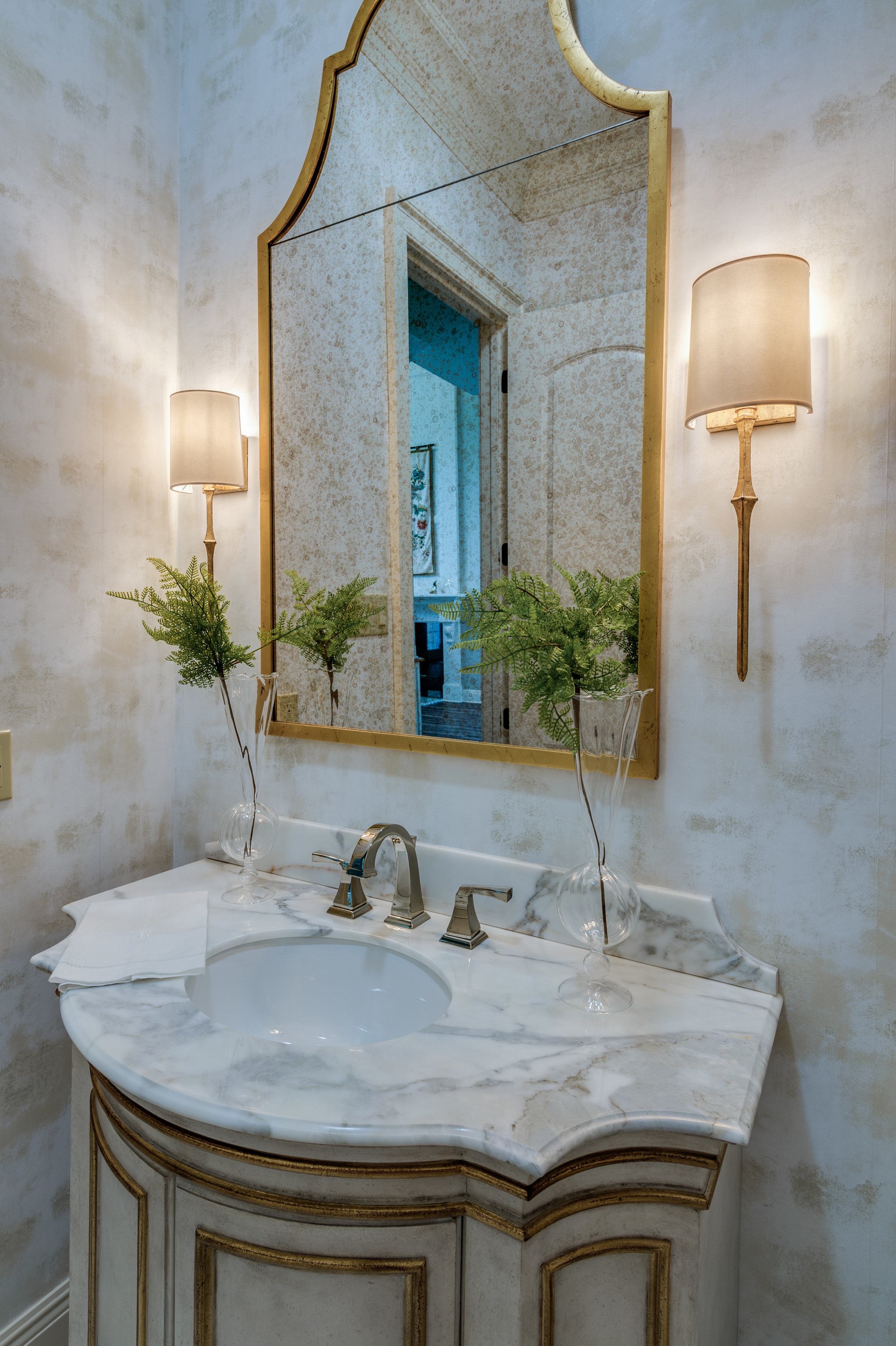 powder room vanity ideas top interior designers metairie khb interiors