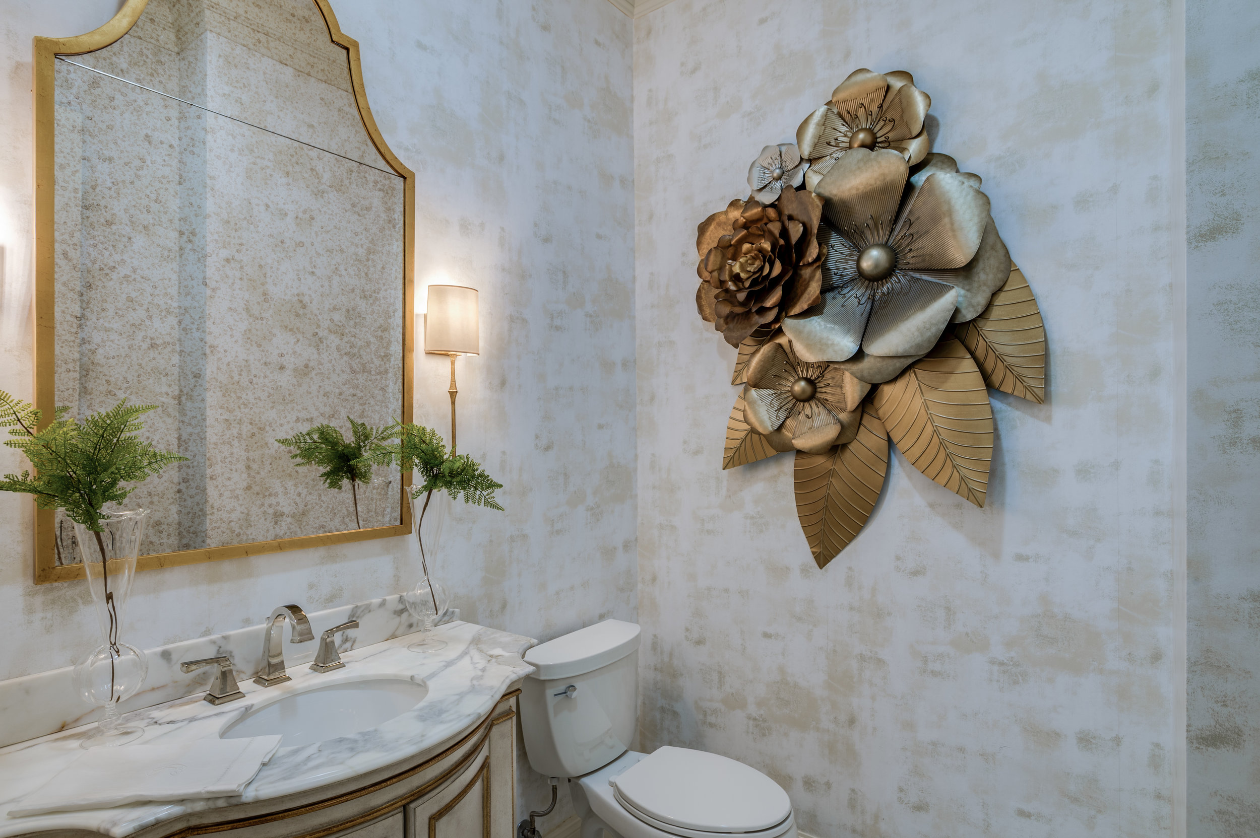 bathroom metal wall decor metairie uptown residential interior design khb interiors