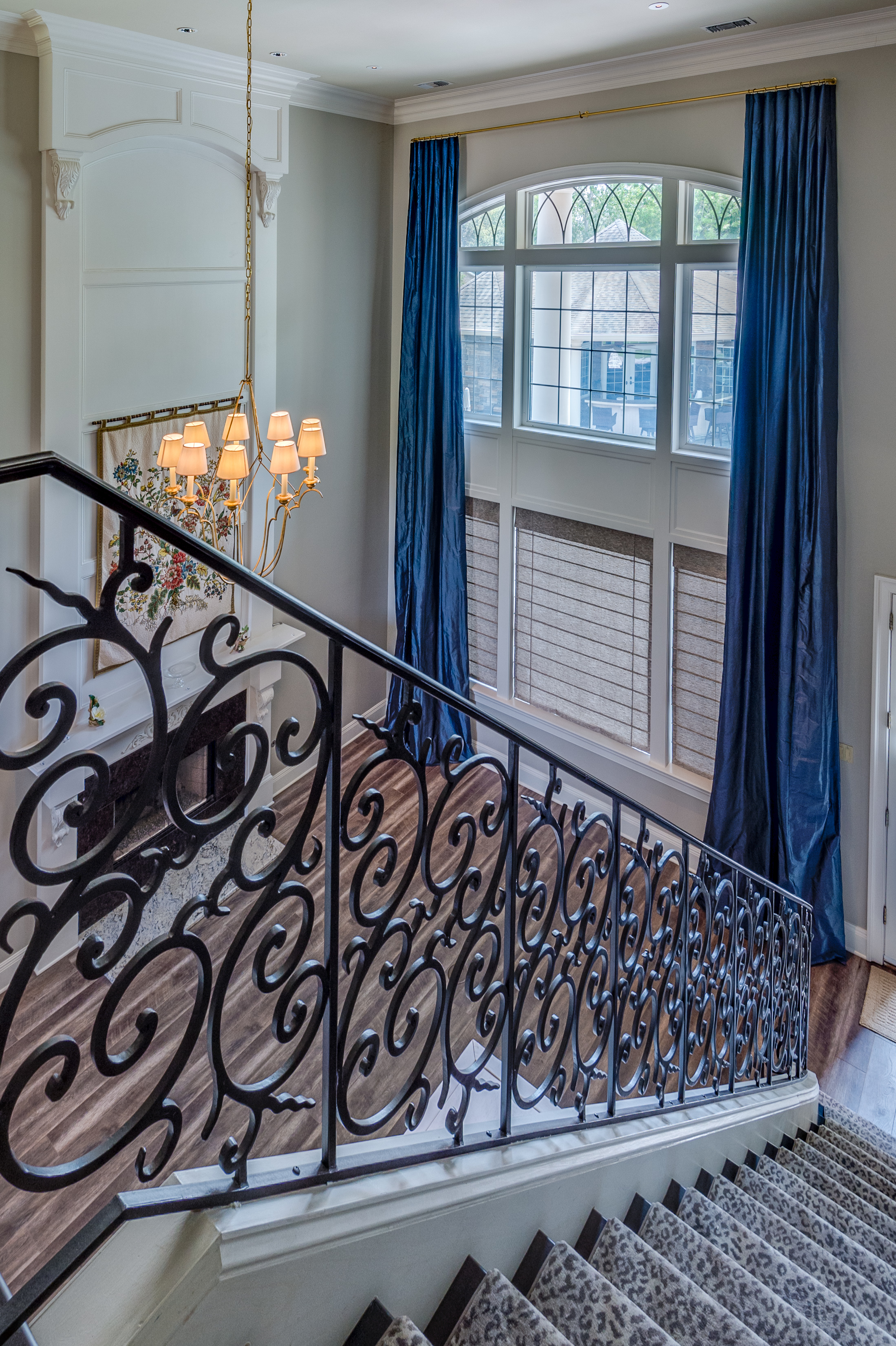 two story window treatment new orleans luxury interior design khb interiors
