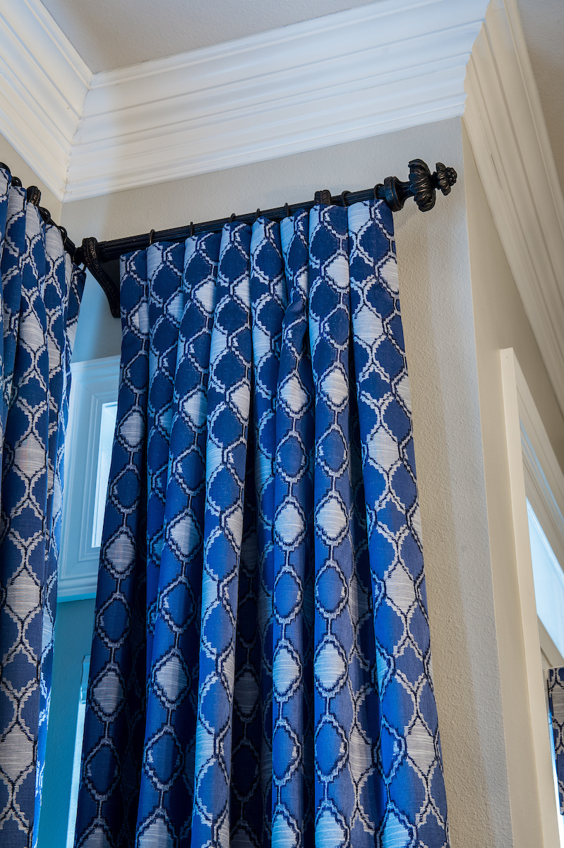 blue and white window treatments new orleans interiors khb interiors