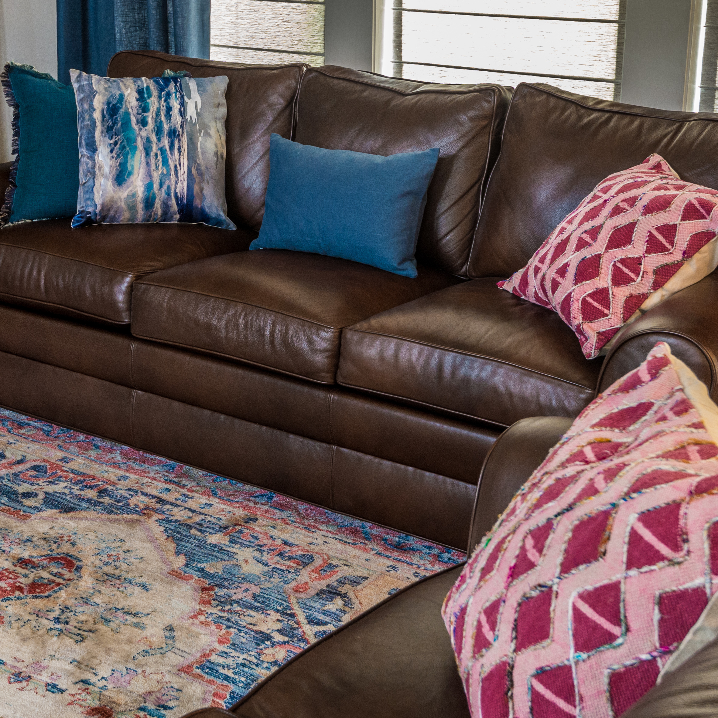 leather sofa pillows metairie luxury interior design khb interiors
