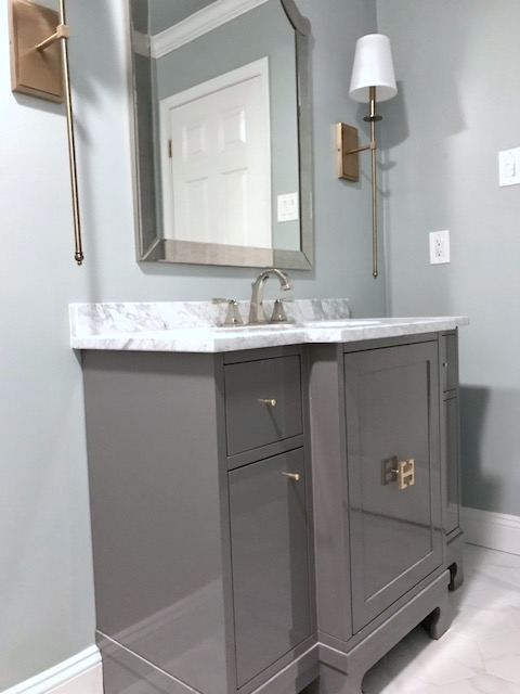 modern traditional style bathroom vanity metairie uptown top interior designers khb interiors