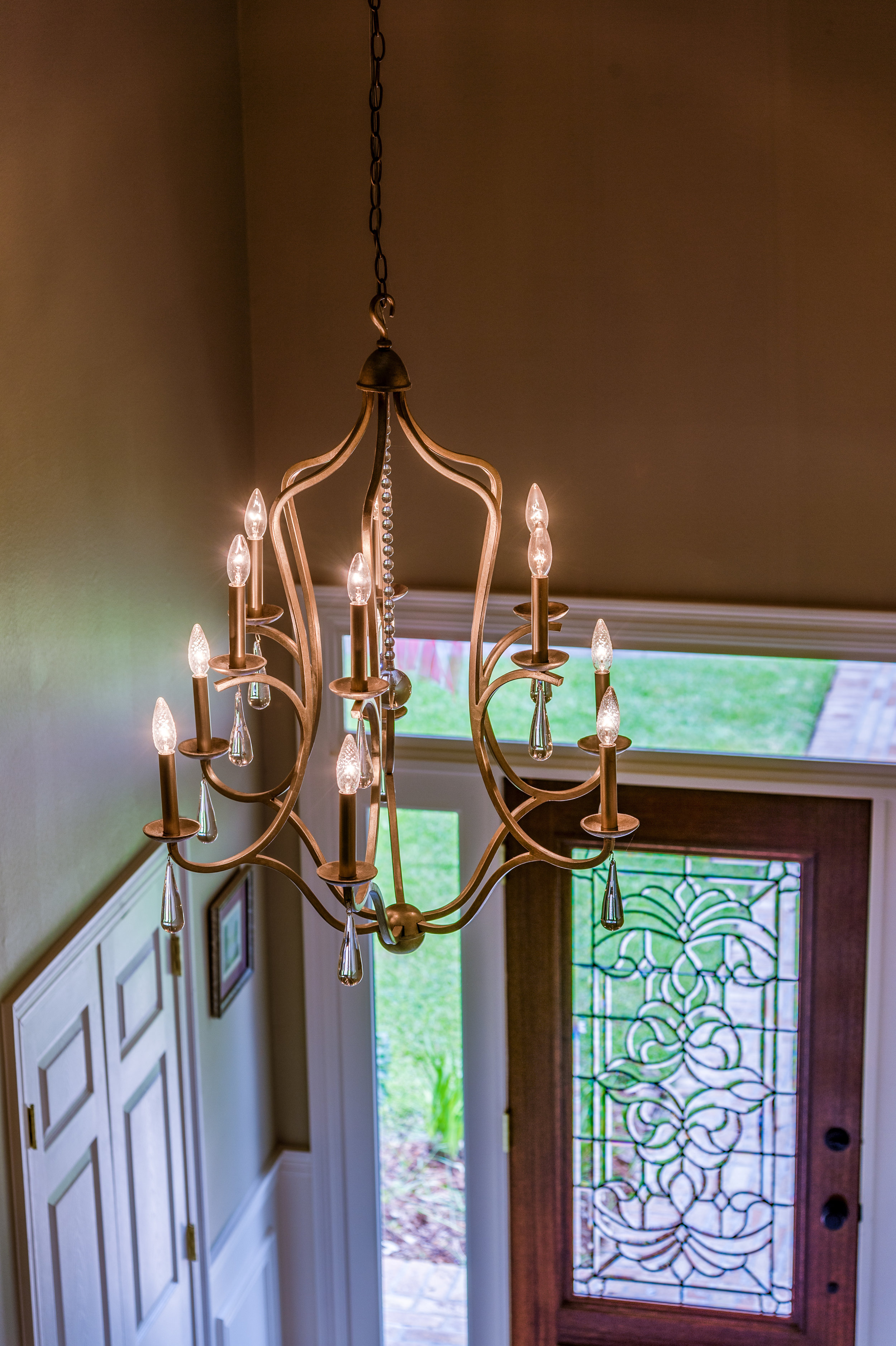 entryway chandelier metairie uptown local interior designers khb interiors