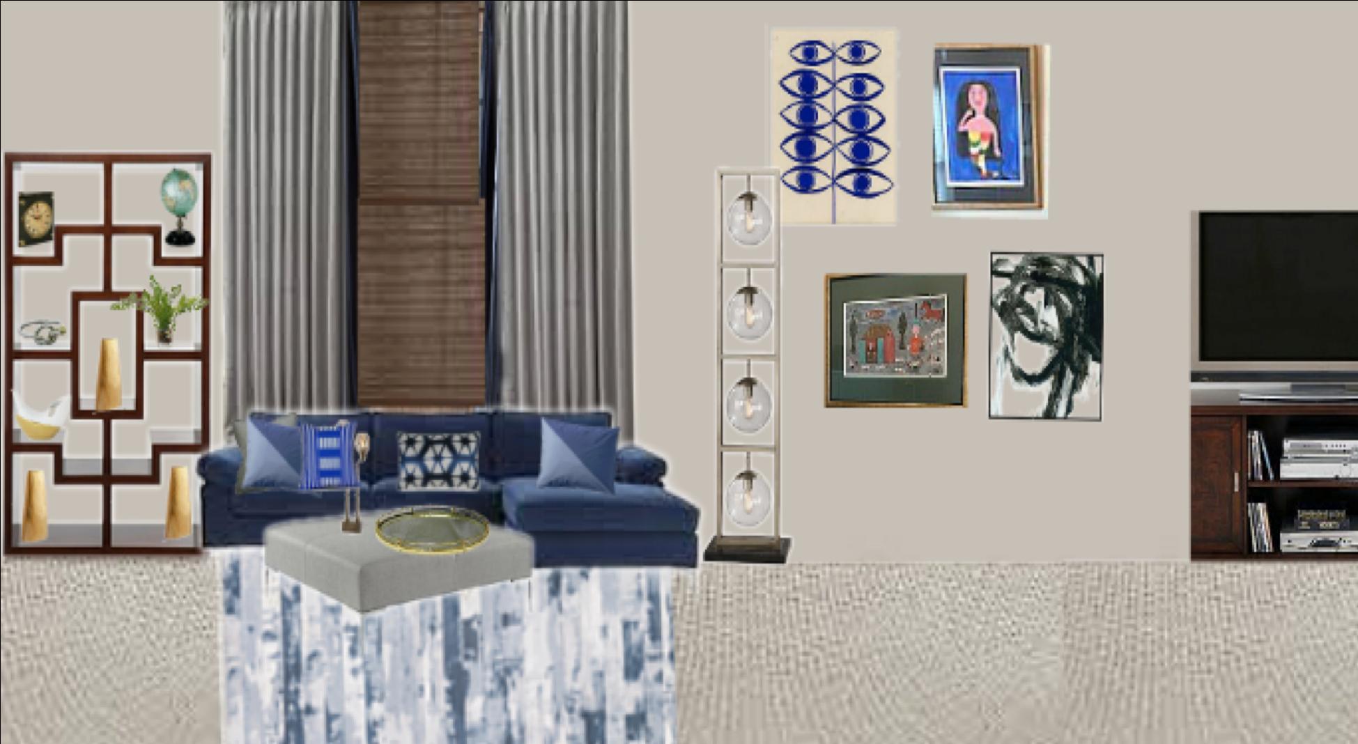 Plush Mod Family Room Inspiration