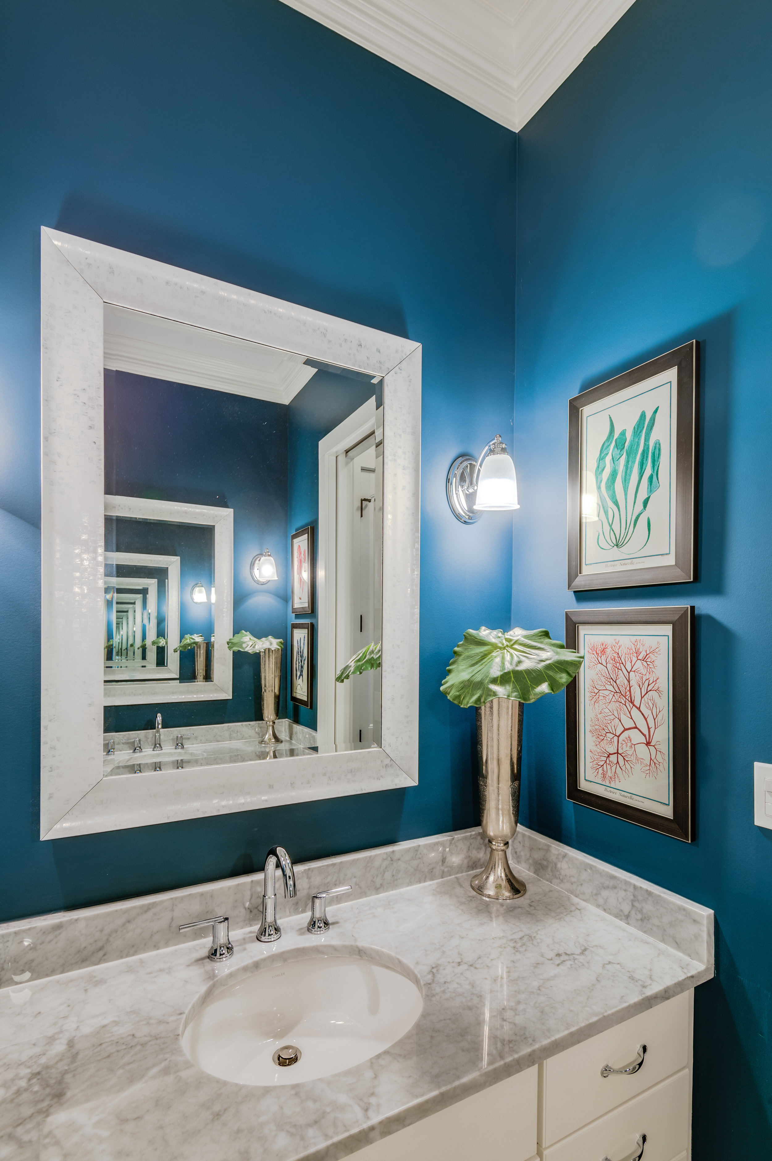 blue and white bathroom vanity ideas new orleans designers khb interiors